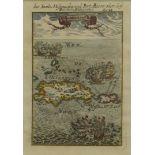 """Alain Manesson-Mallet, """"die Inseln Hispaniola und Portro Ricco oder dess Reichen Sehhavens"""" ..."""