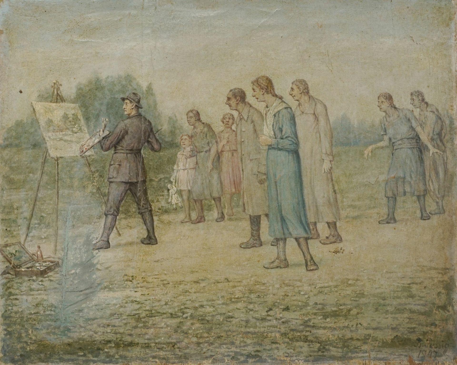 Bendix Passig, Der Maler als Attraktion