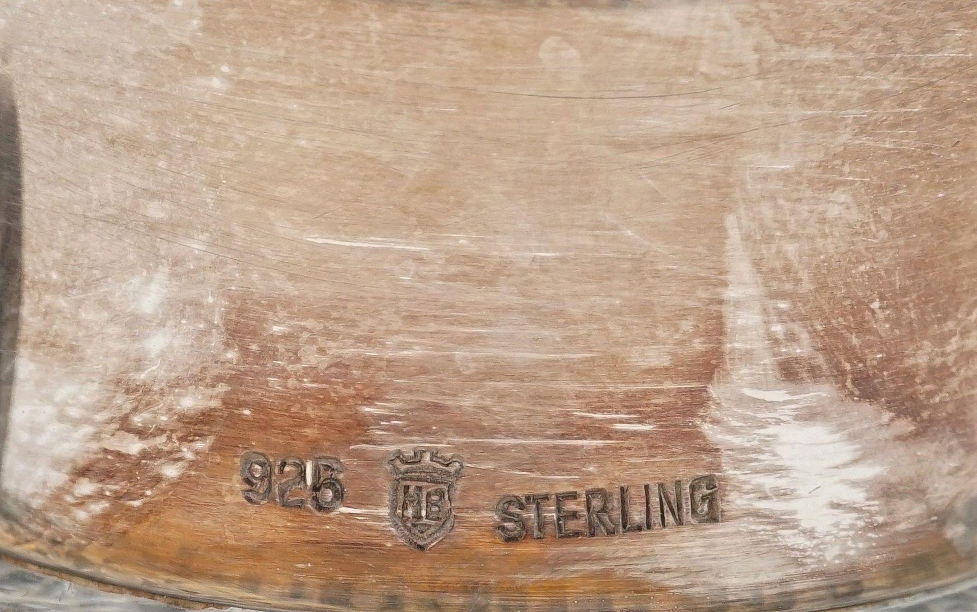 Whiskey-Karaffe mit Silber-Ausguss, 2. Hälfte 20. Jh. - Bild 5 aus 5