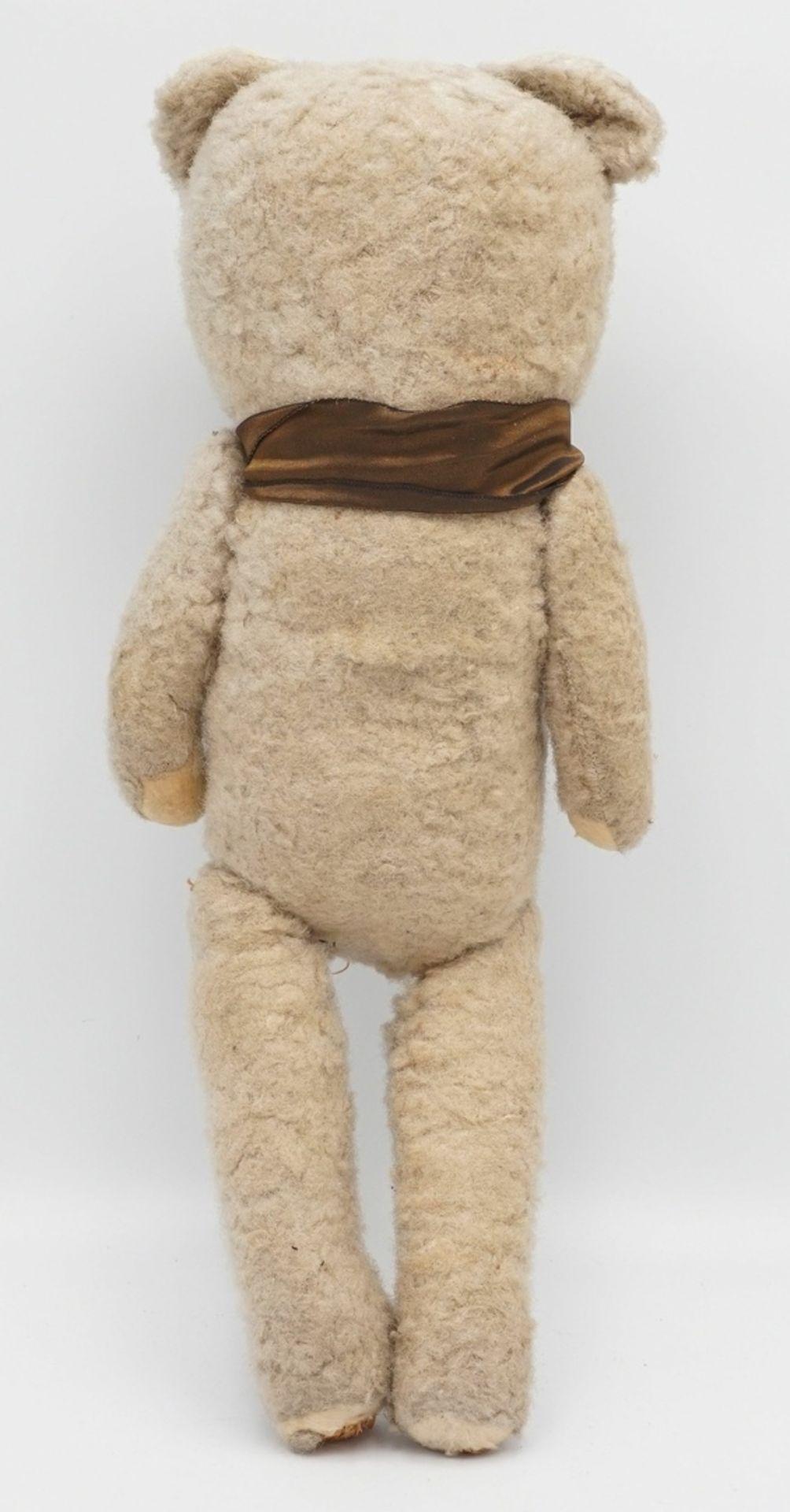 Teddybär mit Schleife, Mitte 20. Jh. - Bild 2 aus 2