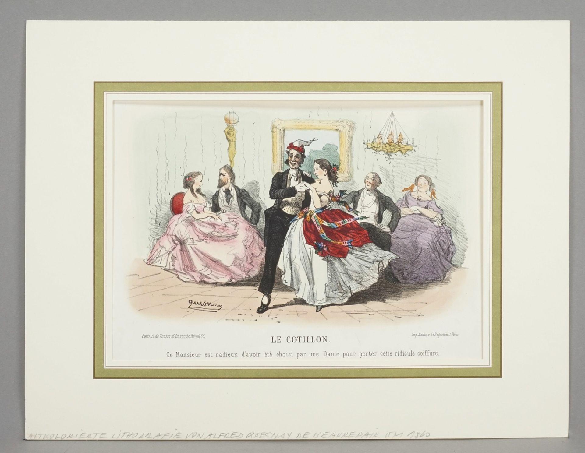 """Alfred Quesnay de Beaurepaire, """"Le Cotillon"""" - Bild 2 aus 3"""