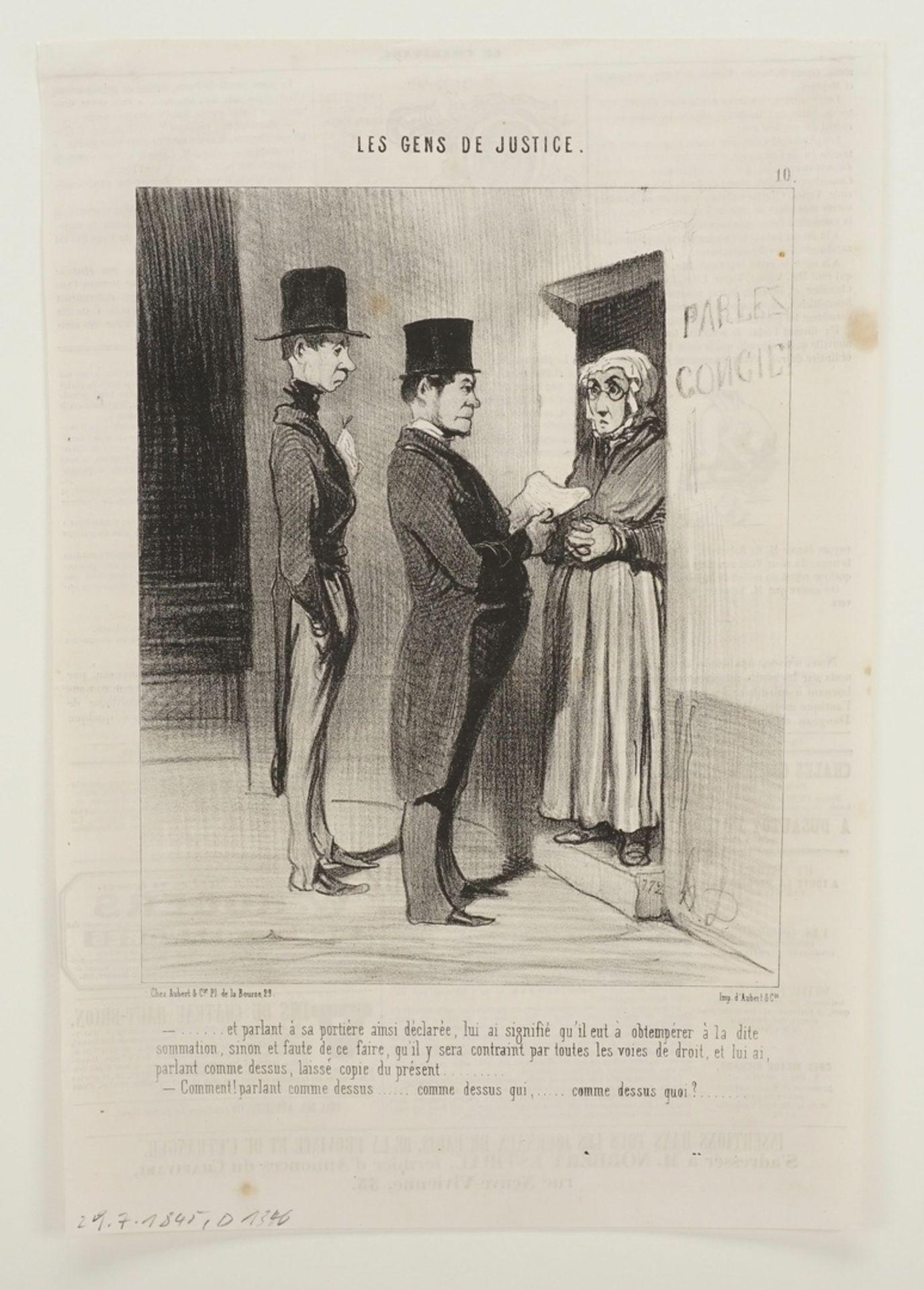 """Honoré Daumier, """"Les Gens de Justice"""" (Die Juristen), Tafel 10 - Bild 3 aus 4"""