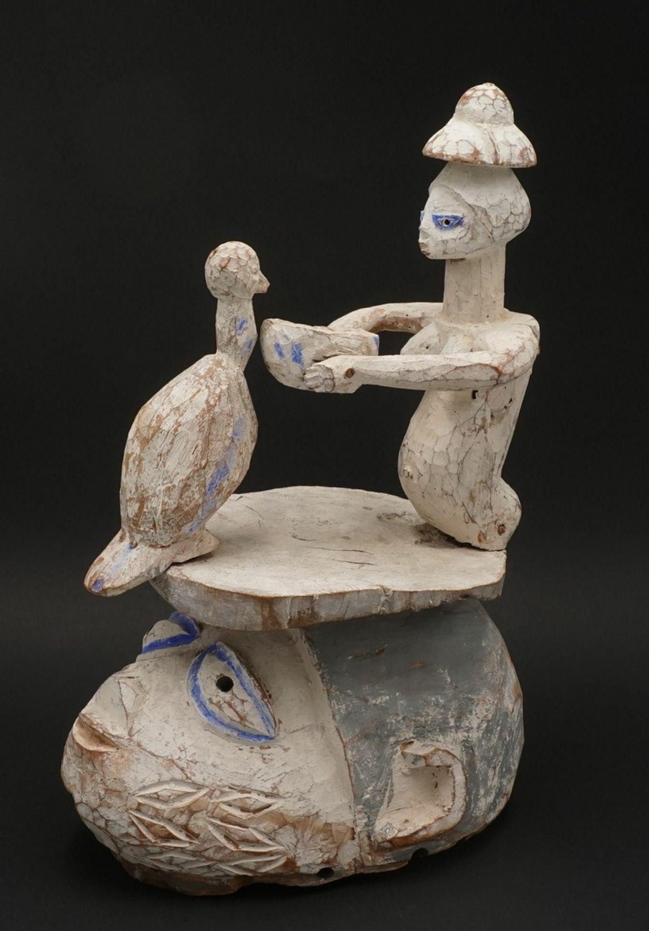 """Helmmaske """"epa"""" / """"gelede"""", Yoruba, Nigeria - Bild 2 aus 3"""