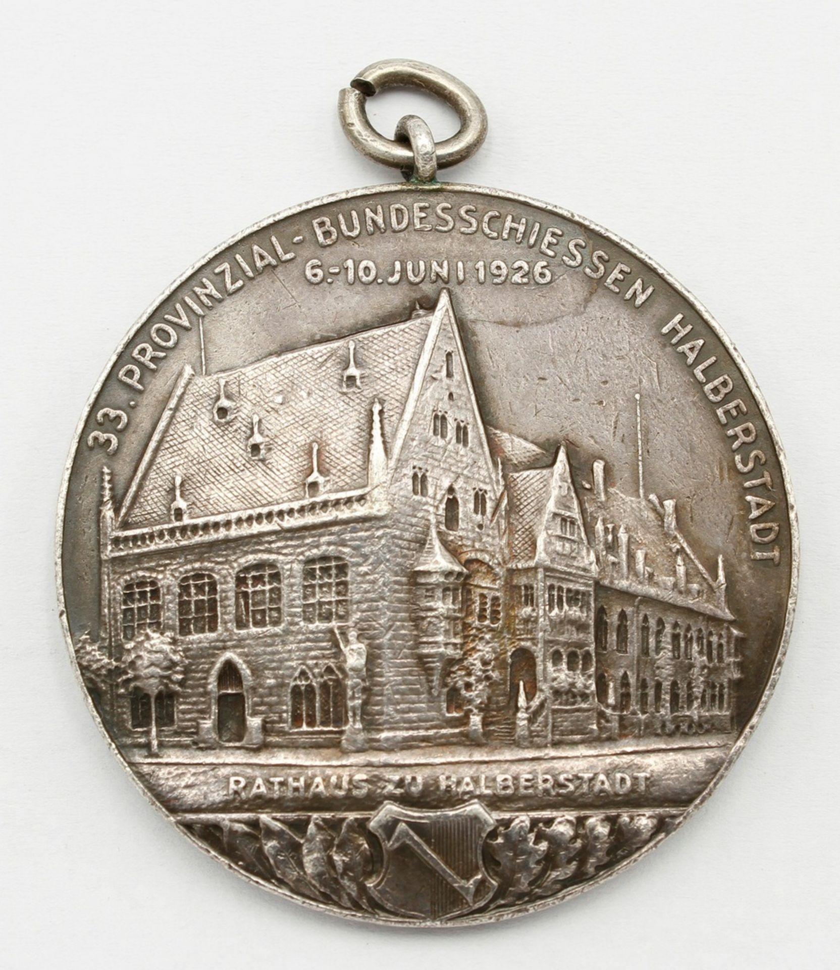Medaille Halberstadt, 33. Provinzial-Bundesschiessen, 1926 - Bild 2 aus 2
