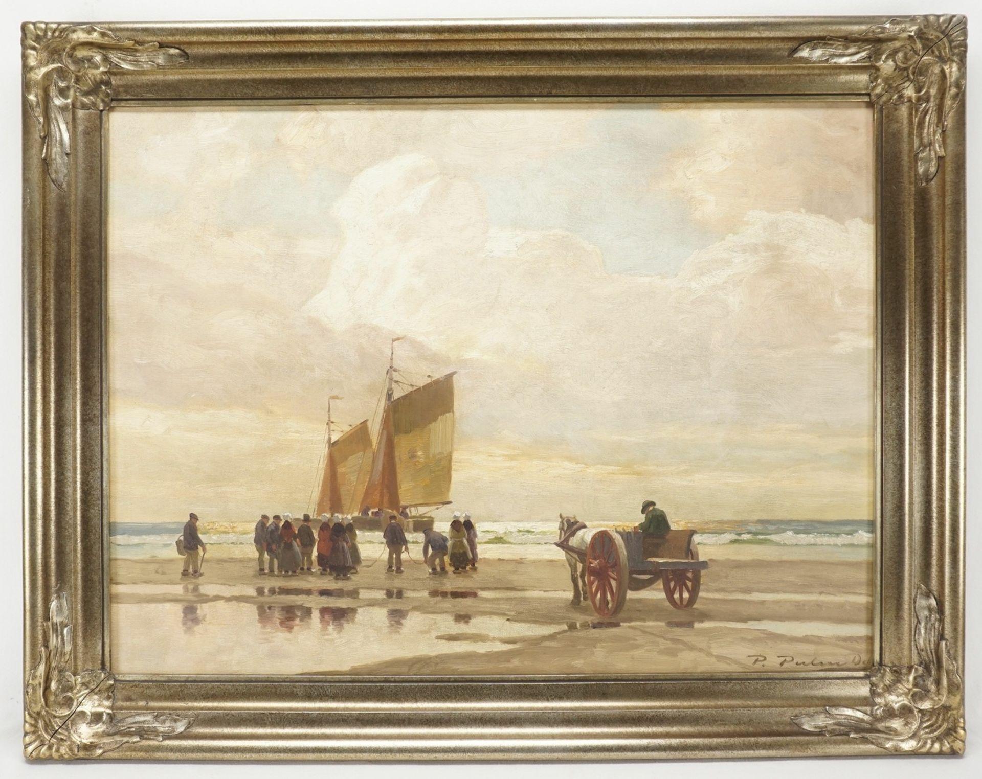 Peter Pulm, Anlandende Fischerboote im Wattenmeer - Bild 2 aus 4