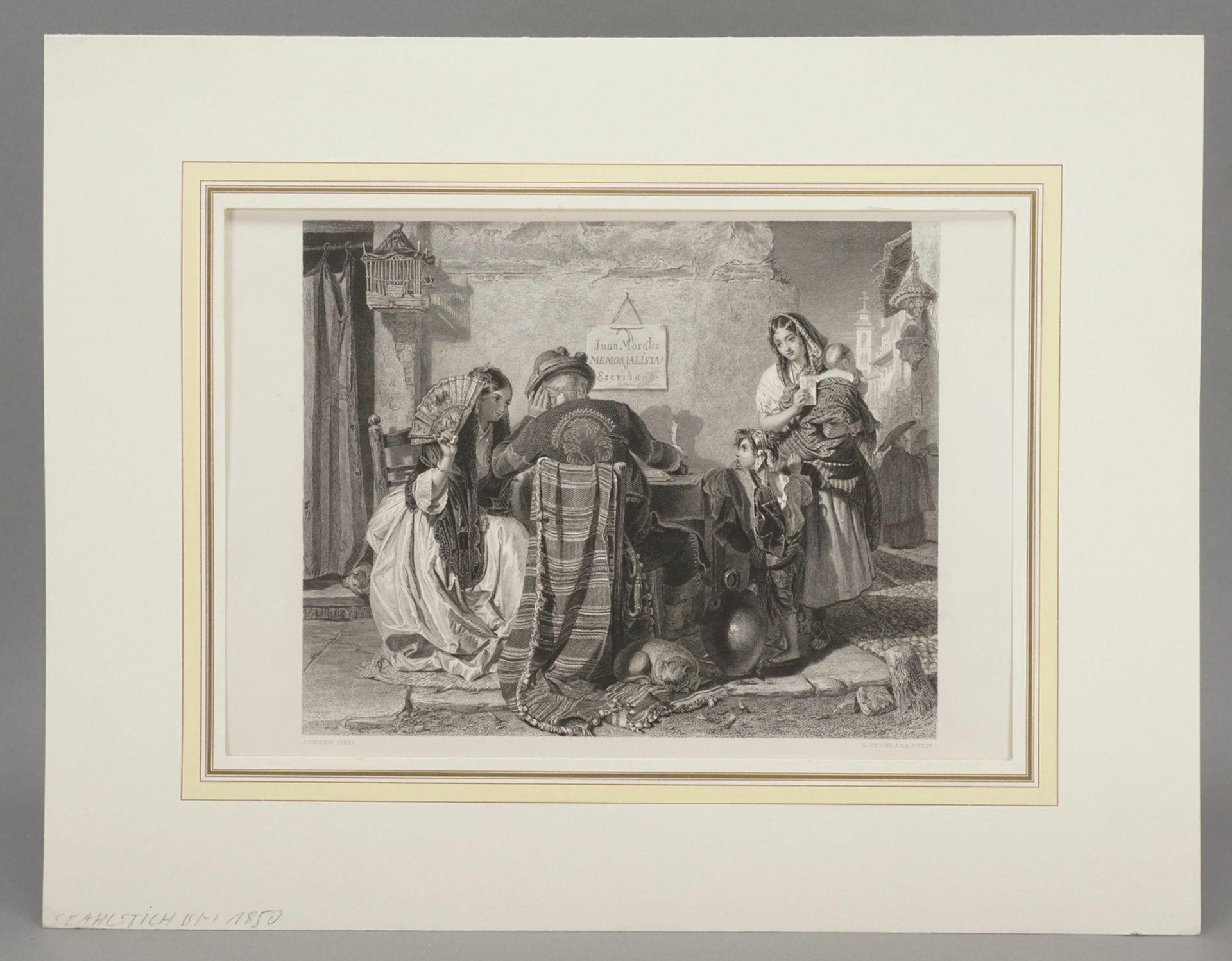 """John Philip, """"The letter writer - Seville"""" (Der Briefeschreiber - Sevilla) - Bild 2 aus 3"""