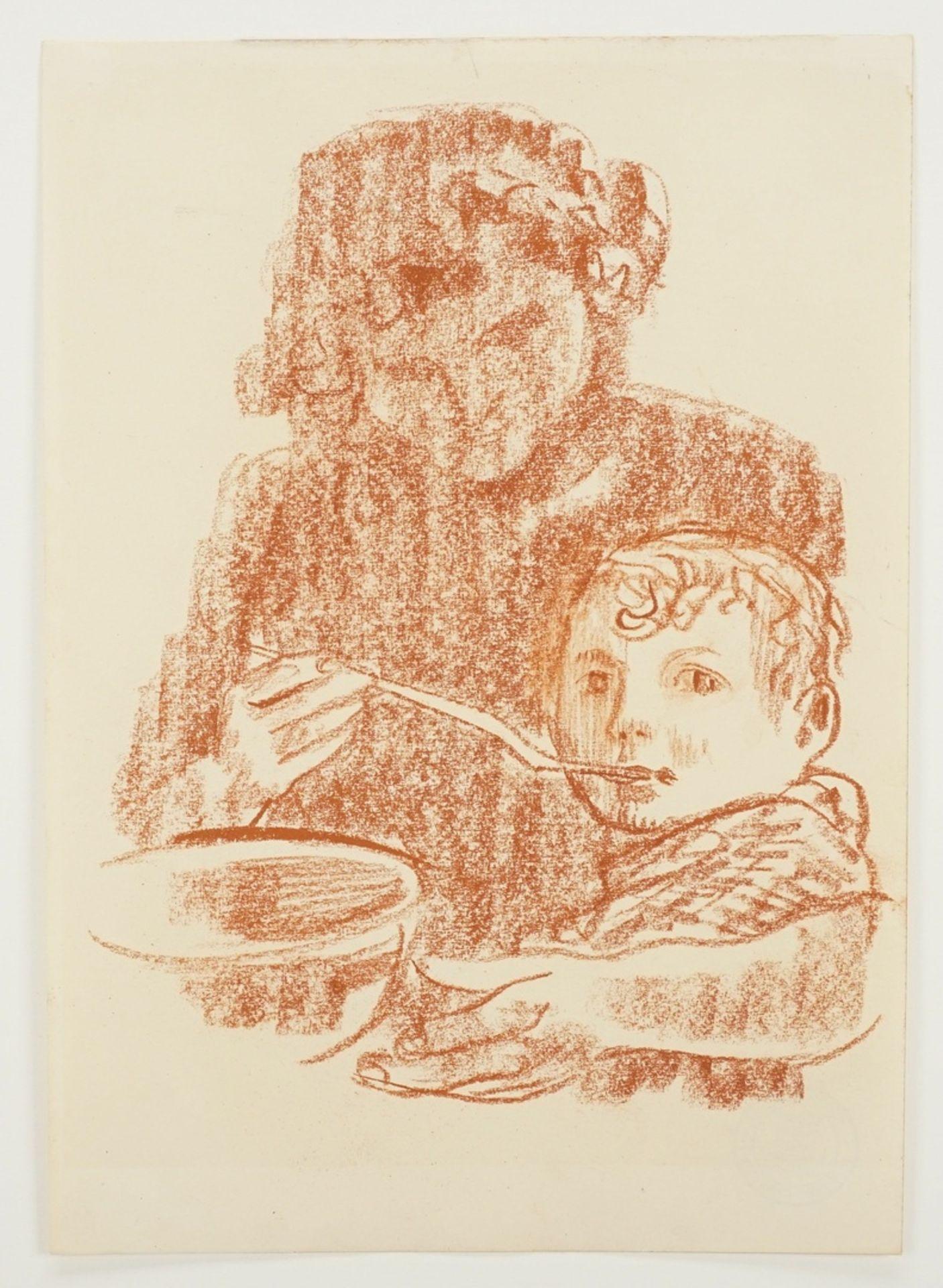 Richard Schwarzkopf, Mutter und Kind beim Essen - Bild 3 aus 4