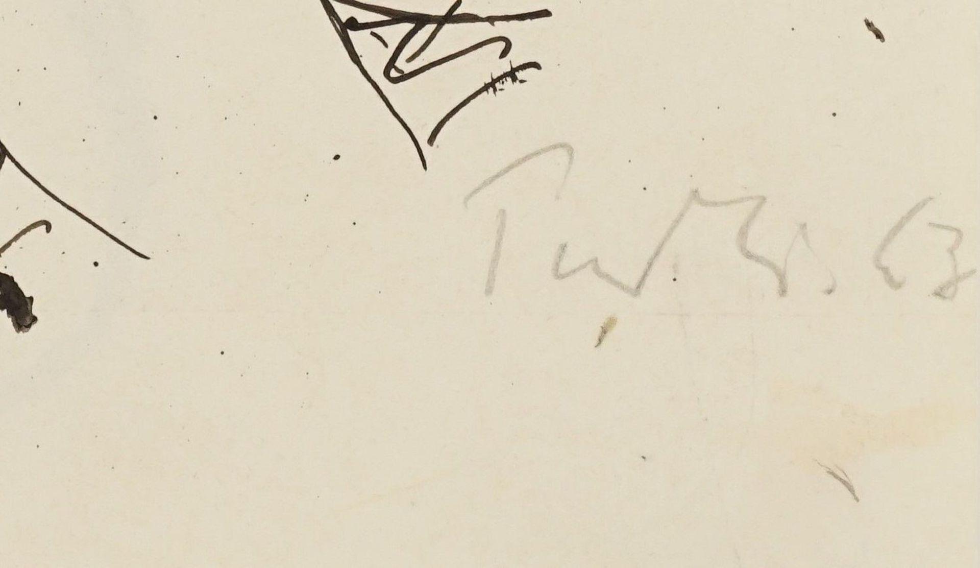 Robert Pudlich, Sitzender weiblicher Akt mit Hut - Bild 4 aus 4