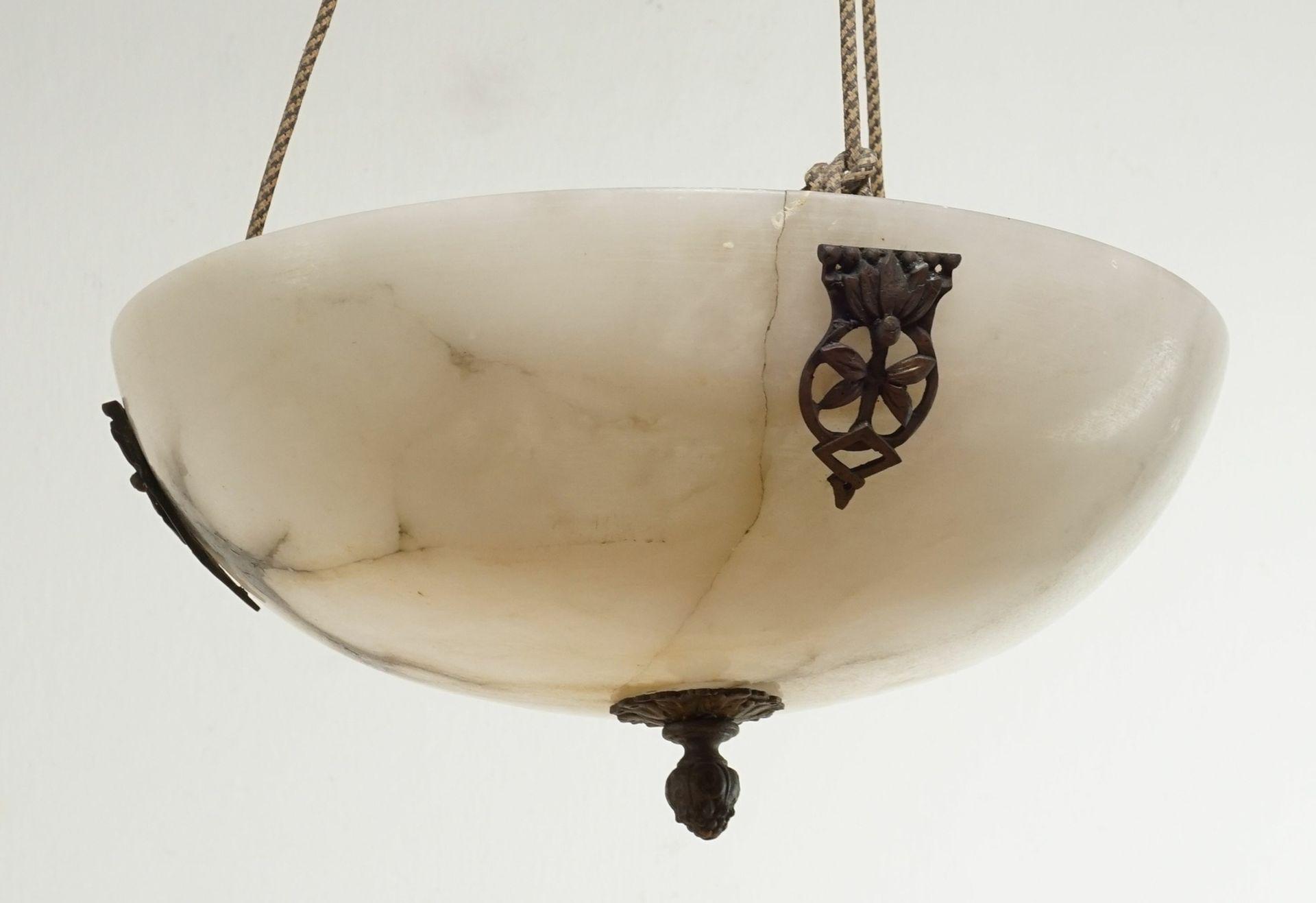 Marmor Deckenlampe, um 1900 - Bild 2 aus 2