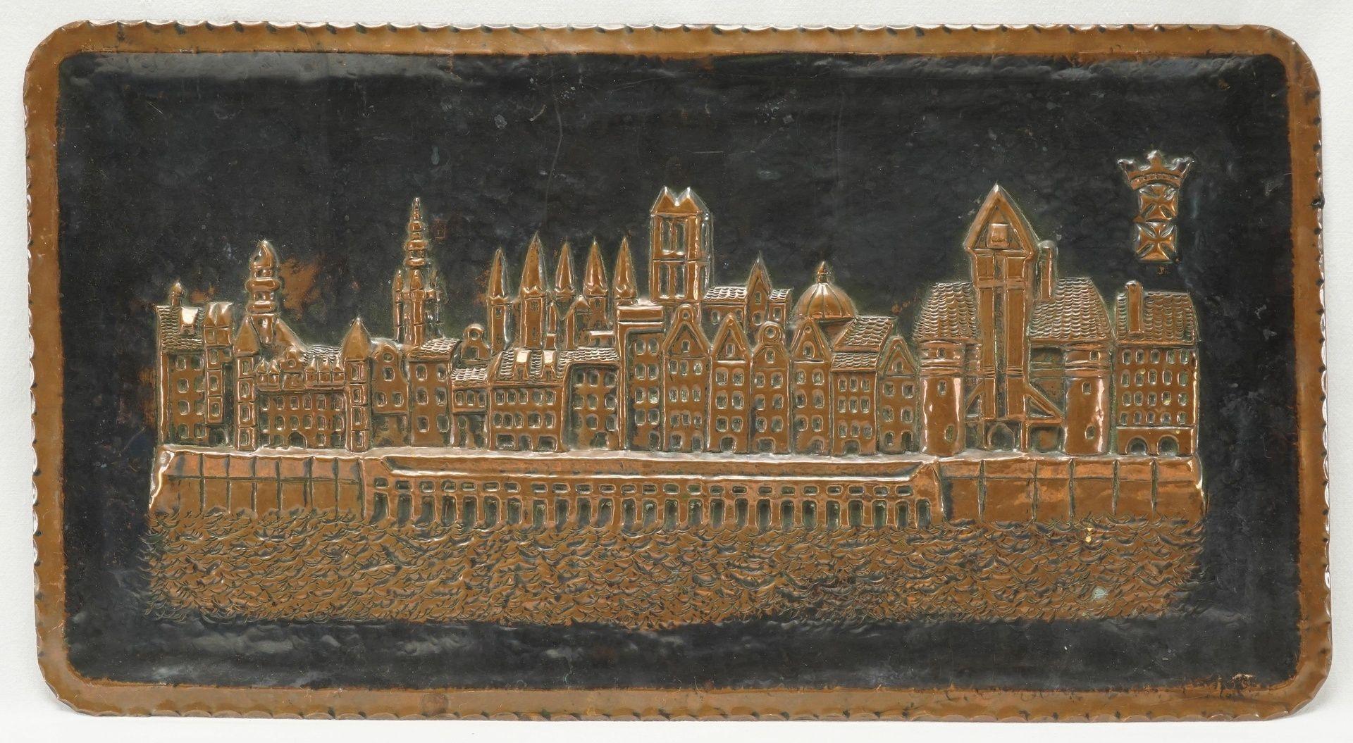 Reliefbild Stadtansicht Danzig, Mitte 20. Jh.