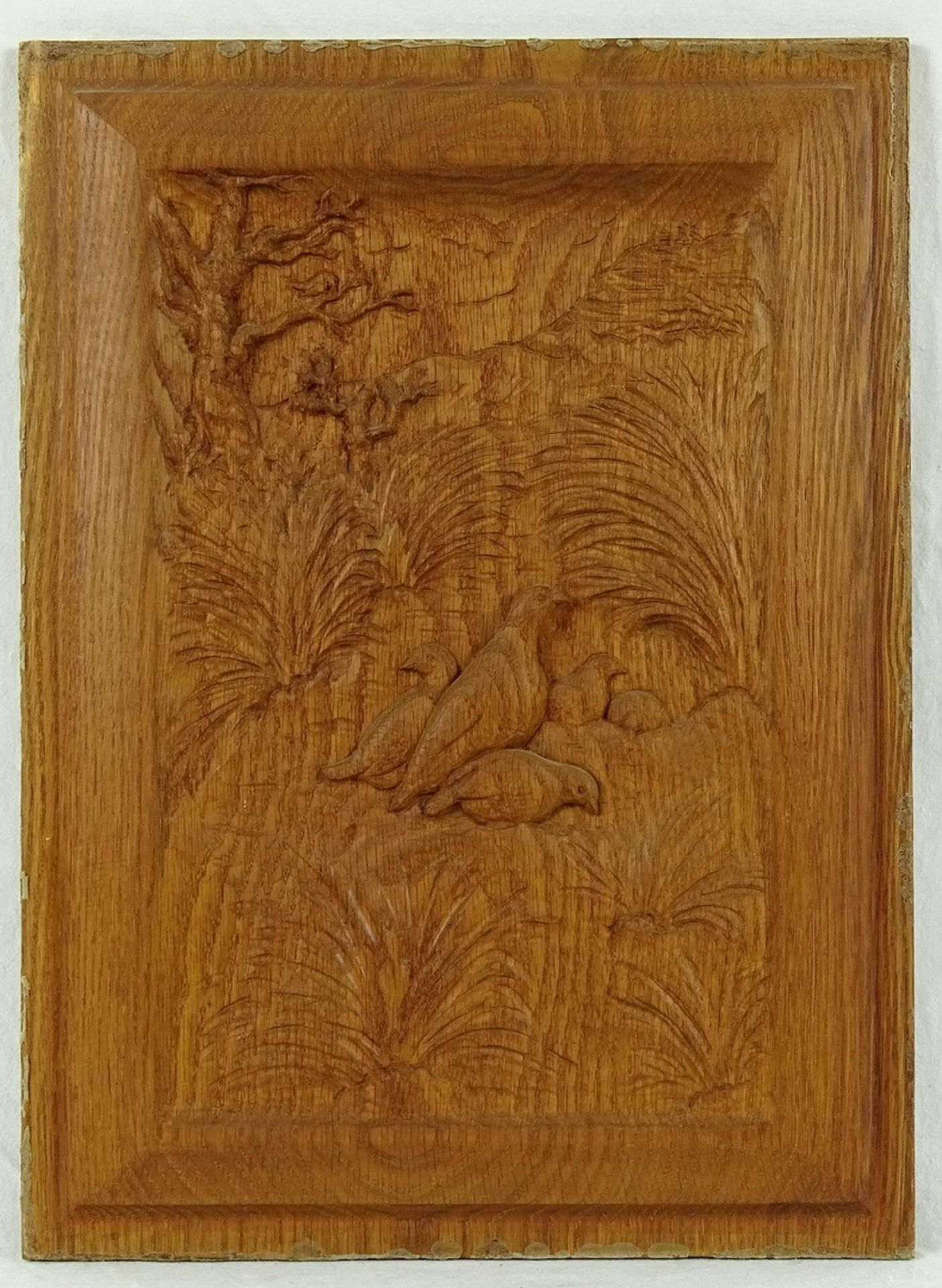 Vier jagdlich verschnitzte Holzbilder - Bild 3 aus 5