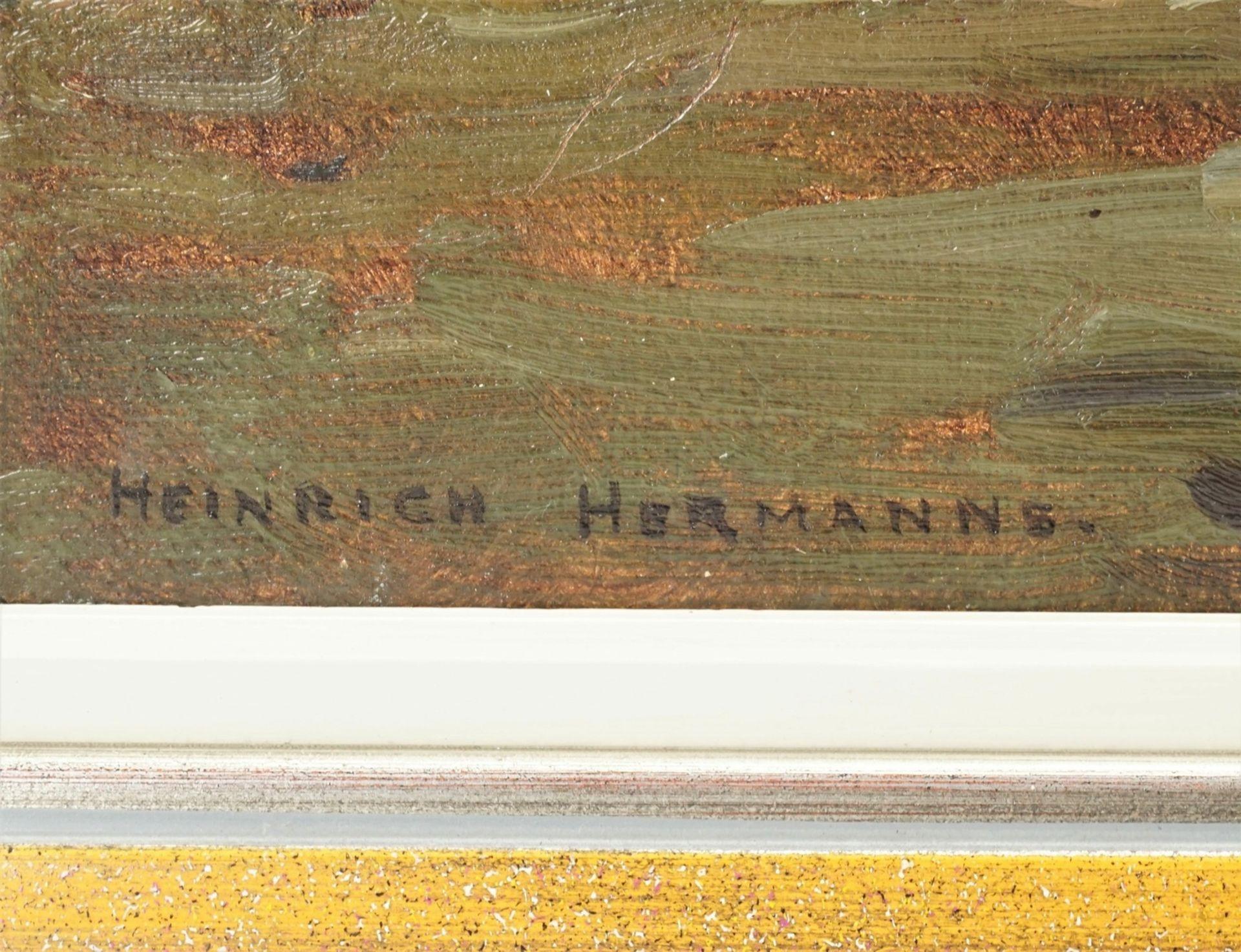 """Heinrich Hermanns, """"Fachwerkhof zwischen Bäumen"""" - Bild 4 aus 4"""