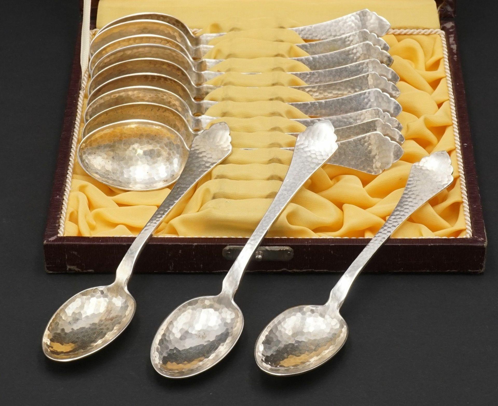 12 Mansfelder Silber Kaffeelöffel, 1917 - 1962
