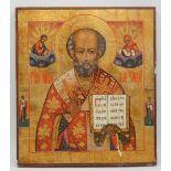 Ikone des Heiligen Nikolaus, Russland, 19. Jh.
