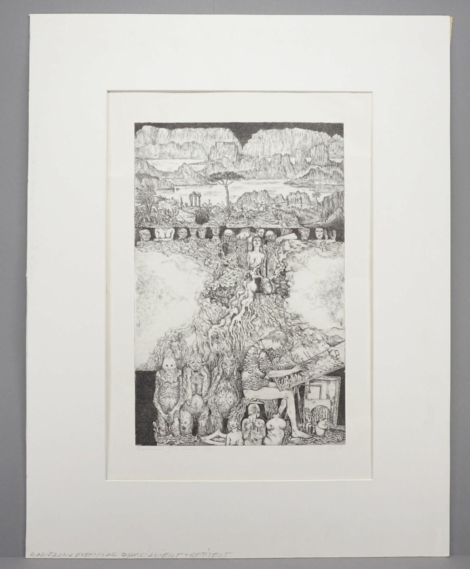 Unbekannter Radier-Künstler, Phantastisch-groteske Szene - Bild 2 aus 4