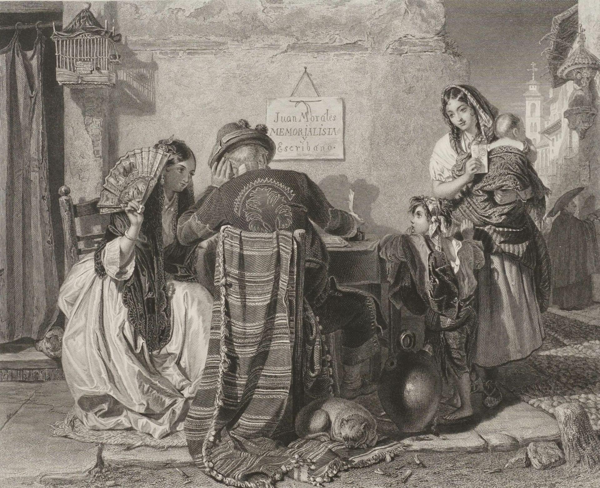 "John Philip, ""The letter writer - Seville"" (Der Briefeschreiber - Sevilla)"
