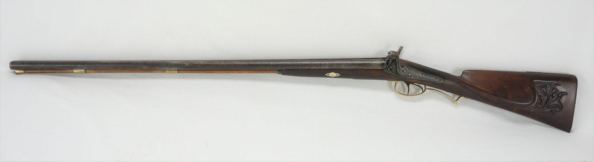 Französische Perkussions-Schrotflinte, um 1850 - Bild 2 aus 6