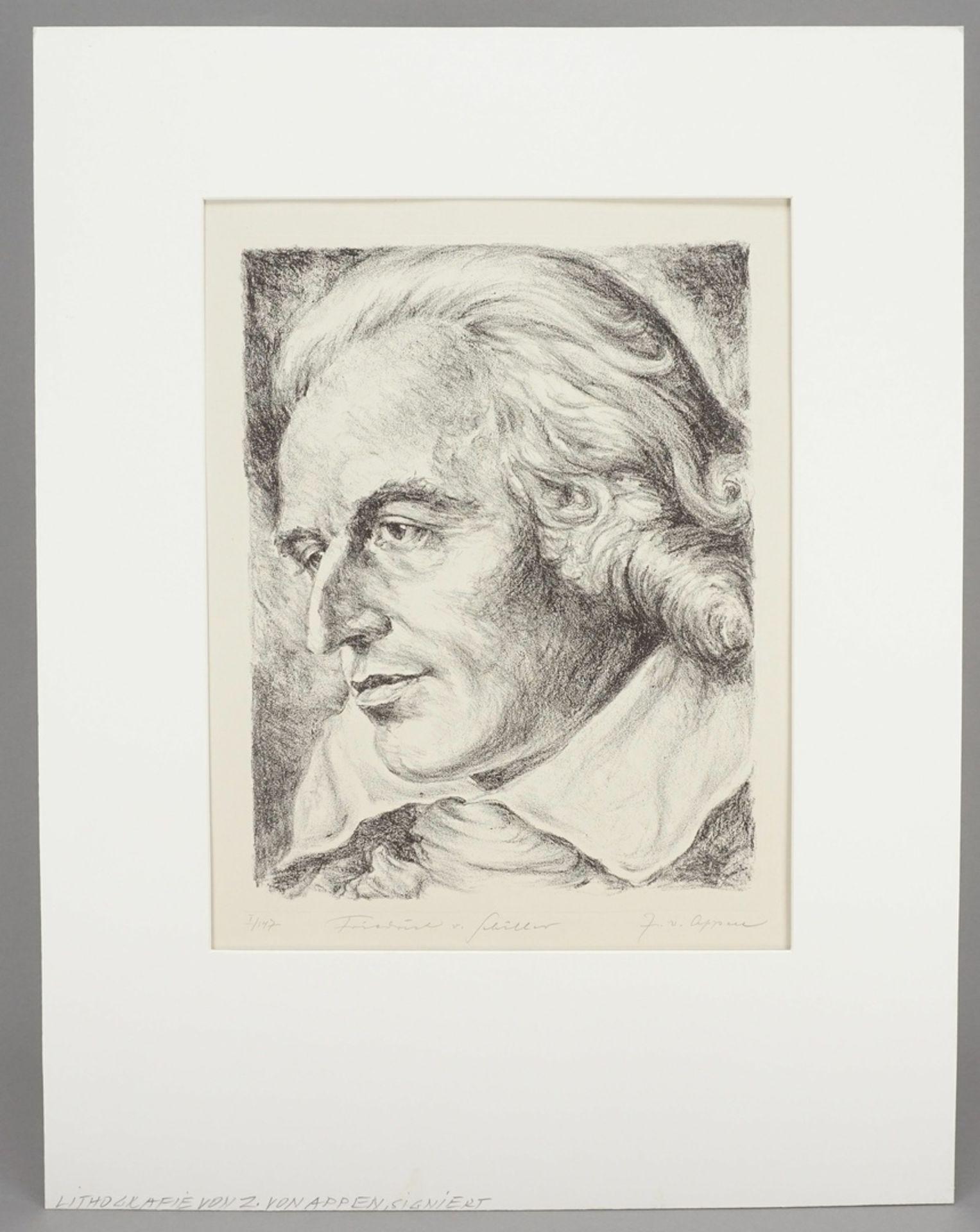 """J. von Appen, """"Portrait Friedrich von Schiller"""" - Bild 2 aus 4"""