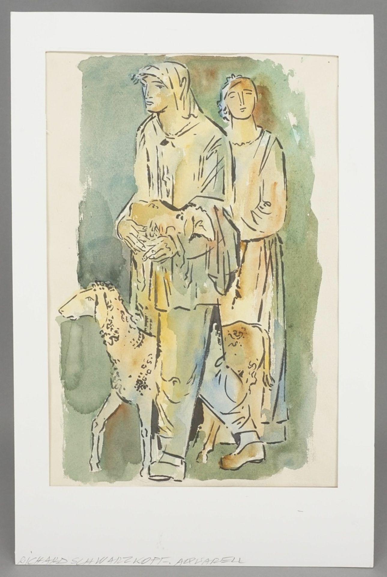 Richard Schwarzkopf, Zwei Hirten mit Schaf - Bild 2 aus 4