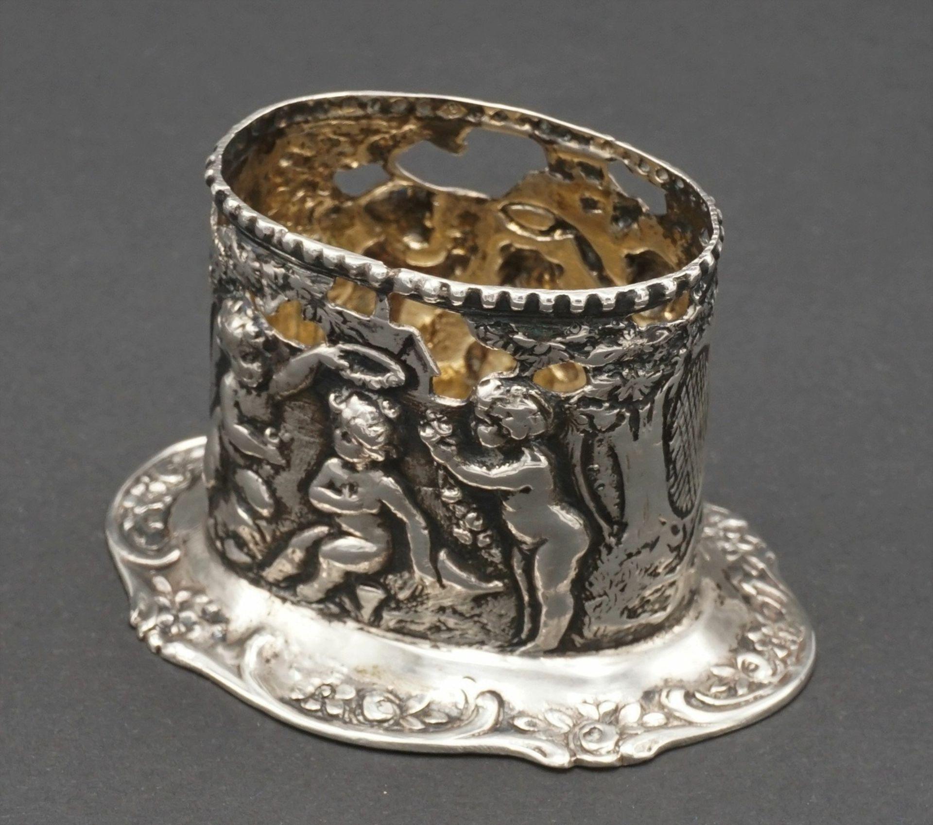 Drei reich verzierte Silberteile - Bild 5 aus 6