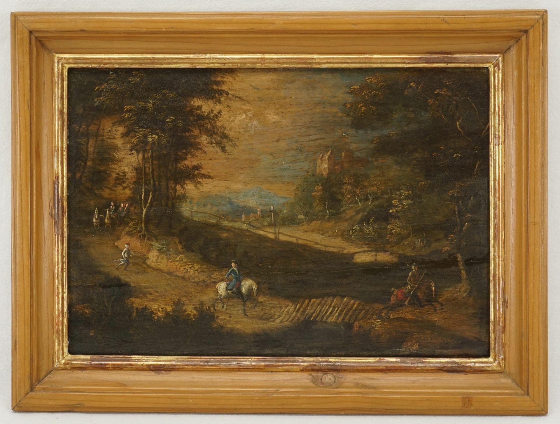 In der Art von Johann Christoph von Bemmel, Der Herr reitet der Kutsche voraus - Bild 2 aus 3