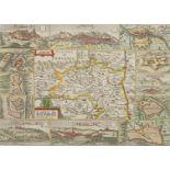 """Daniel de la Feuille, """"Carte du Dauphiné"""" (Landkarte Dauphiné, Südostfrankreich)"""