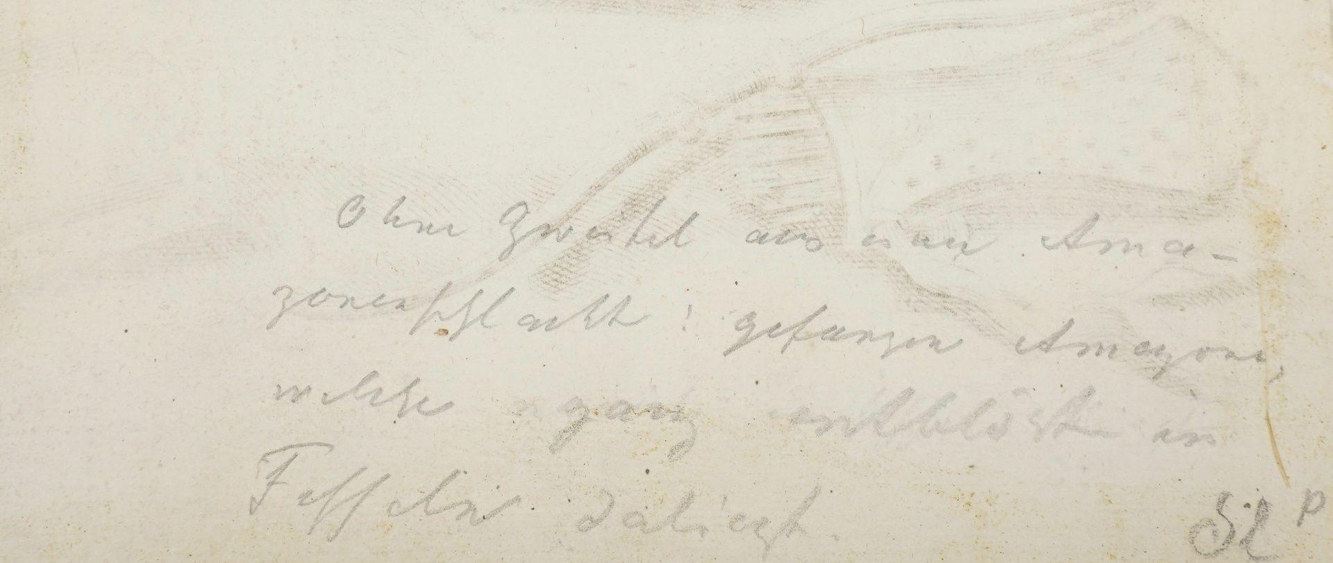 Gerard de Lairesse, Studienblatt zur optischen Verkürzung (Liegende als Nymphe der Diana) - Bild 4 aus 4