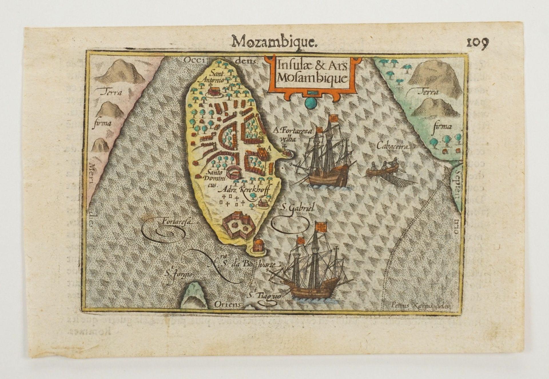 """Pieter van den Keere, """"Mozambique. Insulae & Ars Mosambique"""" (Landkarte von Mosambik) - Bild 3 aus 4"""