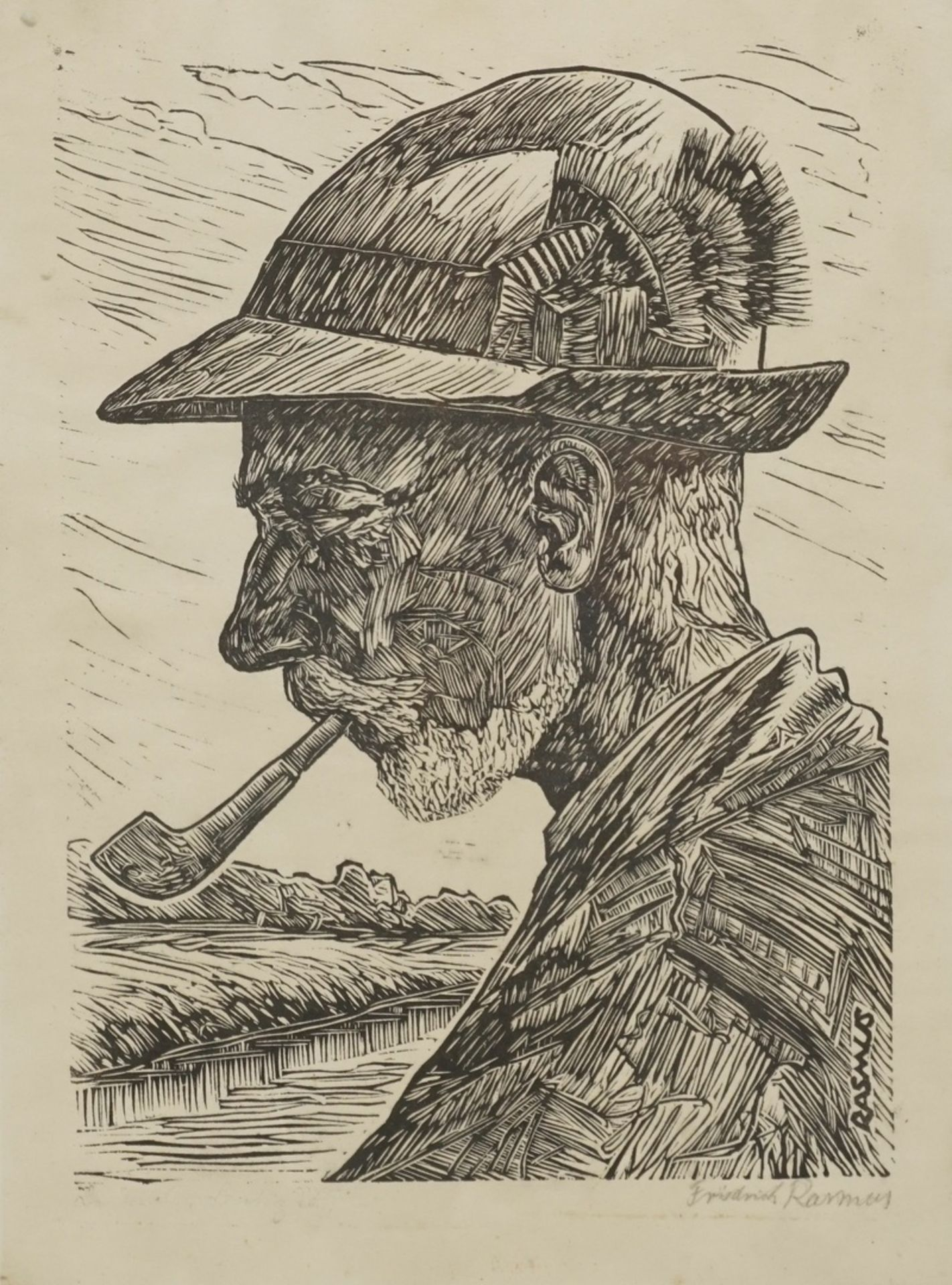 Claus Friedrich Rasmus, Portrait von Benedix Passig