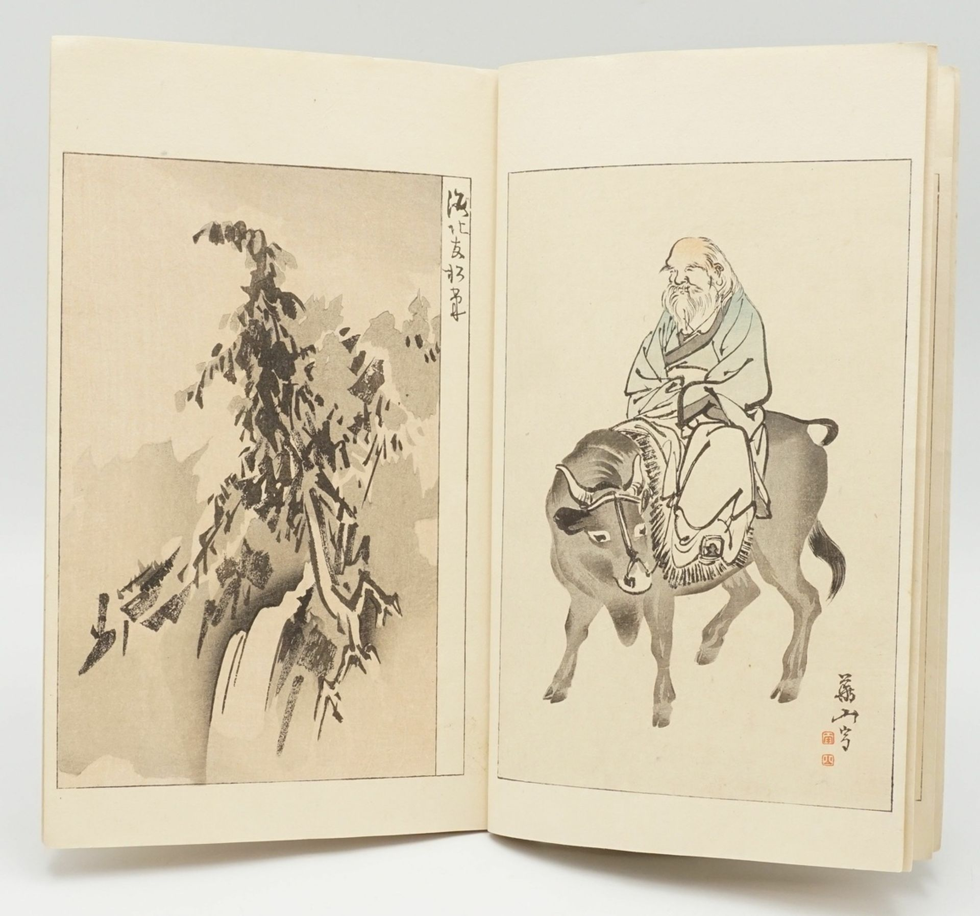 """Blockbuch, Bijutsu Sekai und """"Die ostasiatische Tuschmalerei"""" - Bild 3 aus 8"""