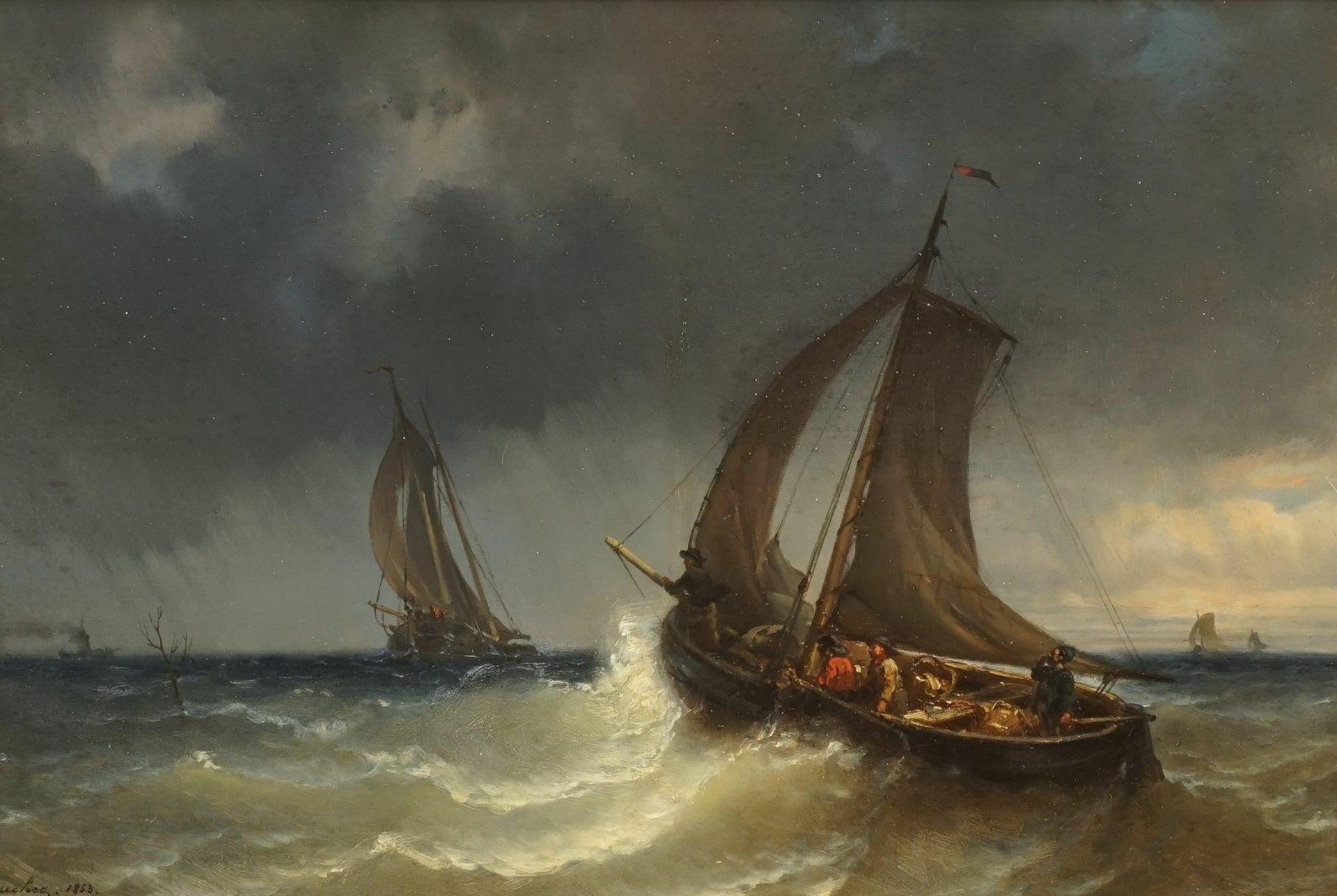 Charles Bouchez, Stürmische See vor der Küste der Normandie - Bild 2 aus 4
