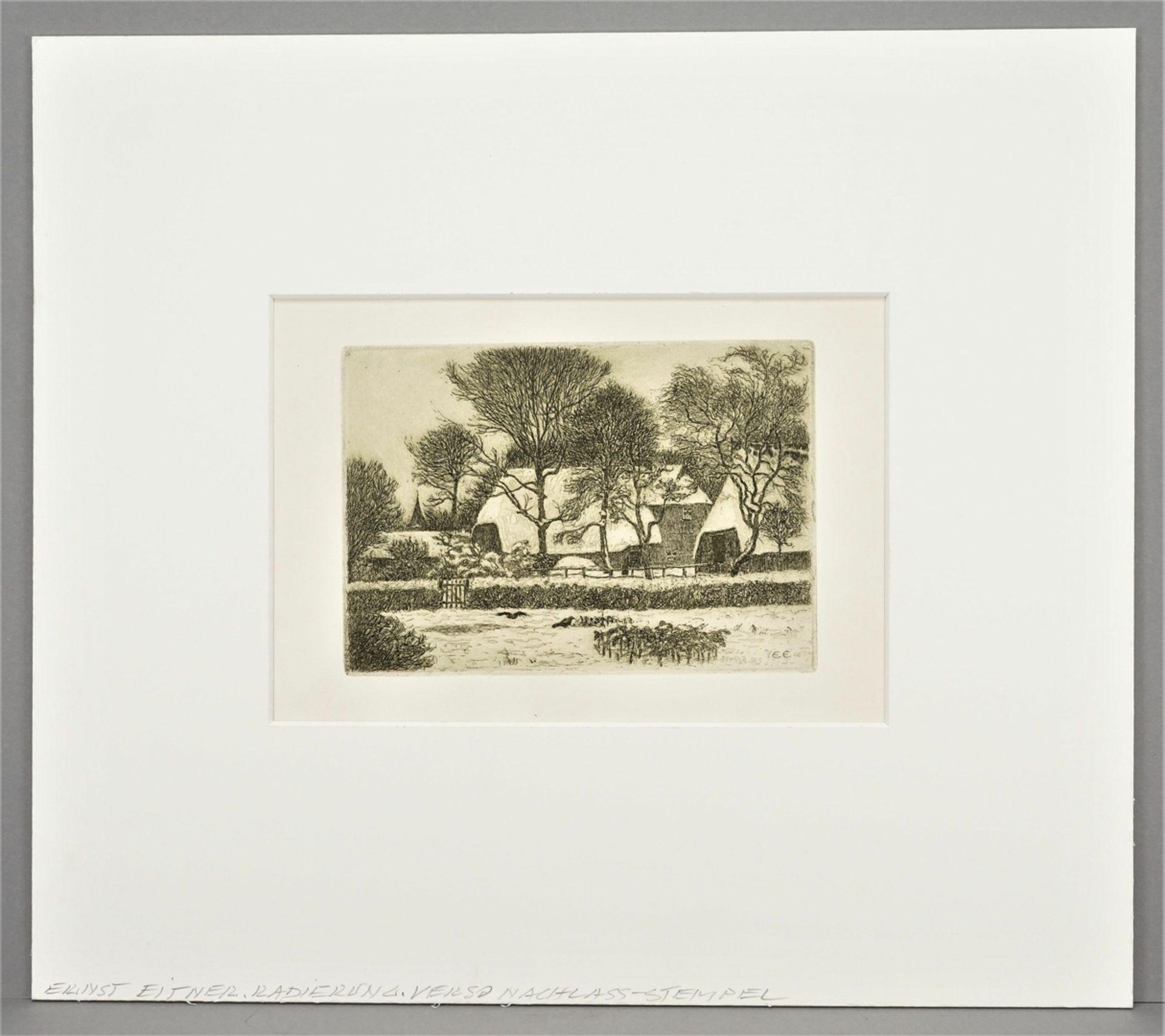 Ernst Eitner, Norddeutsches Dorf im Winter - Bild 2 aus 5