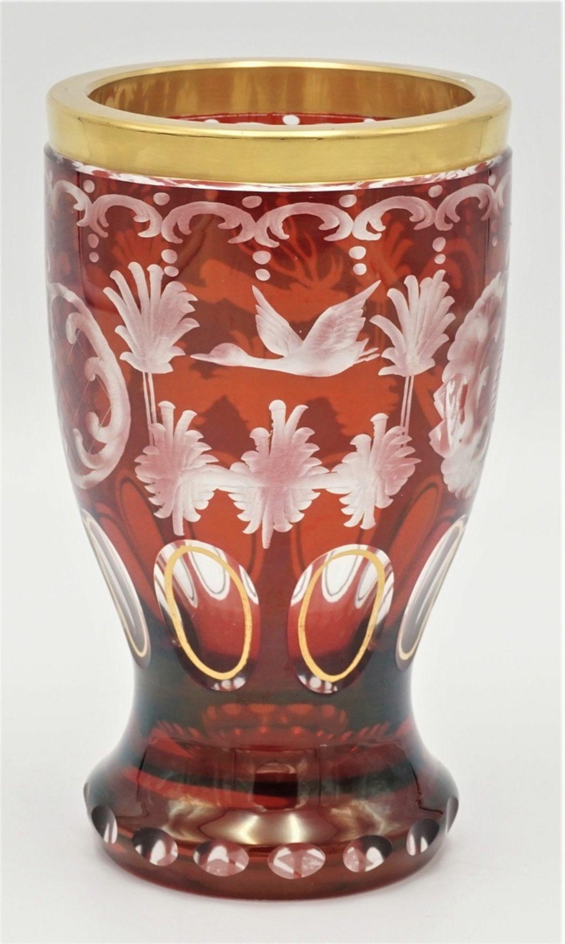 Böhmen Becherglas - Bild 2 aus 3