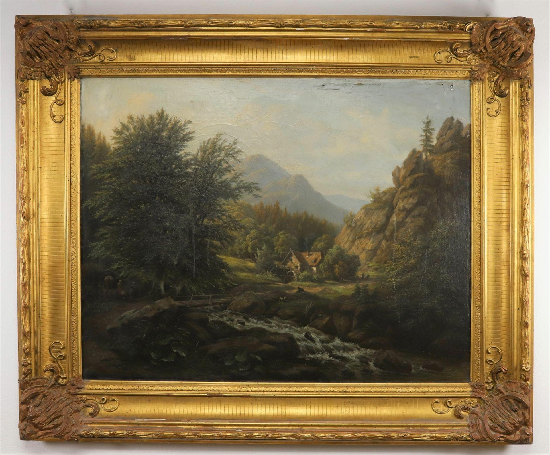 Carl Schulz, Wassermühle im Gebirgstal - Bild 2 aus 6