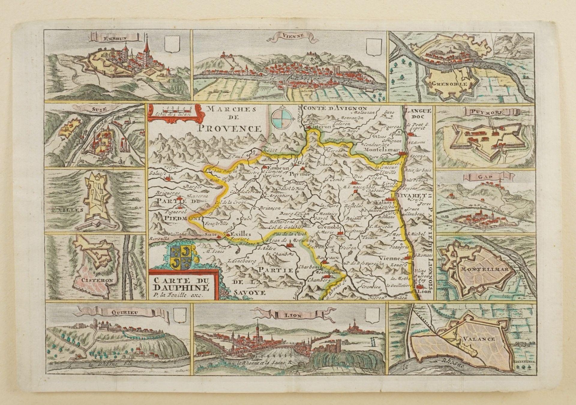 """Daniel de la Feuille, """"Carte du Dauphiné"""" (Landkarte Dauphiné, Südostfrankreich) - Bild 3 aus 3"""