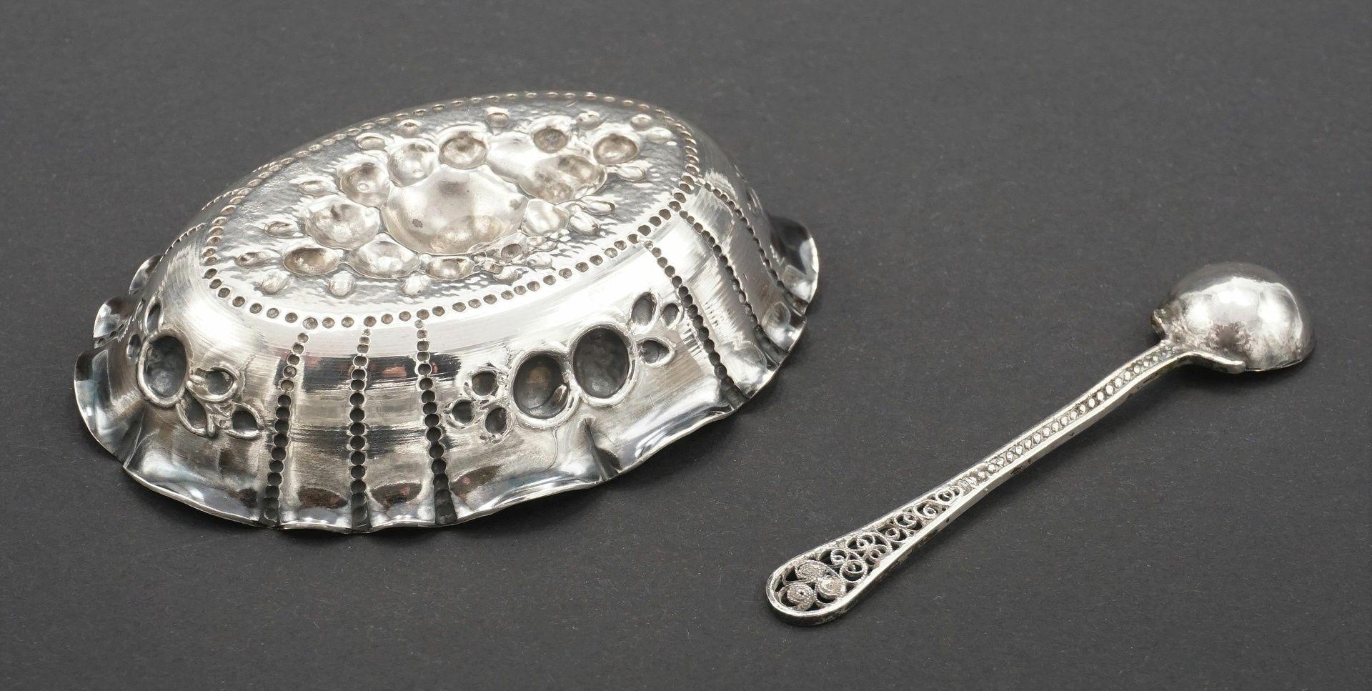 Drei reich verzierte Silberteile - Bild 4 aus 6