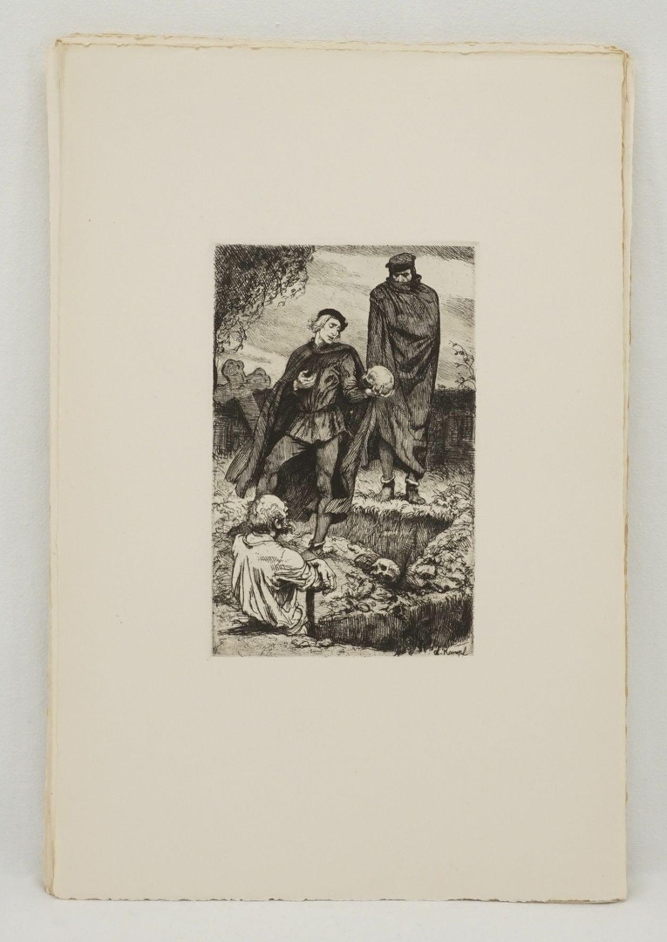 """Arthur Kampf, """"Zwanzig Radierungen zu Shakespeares Werken"""" (Mappe) - Bild 7 aus 8"""
