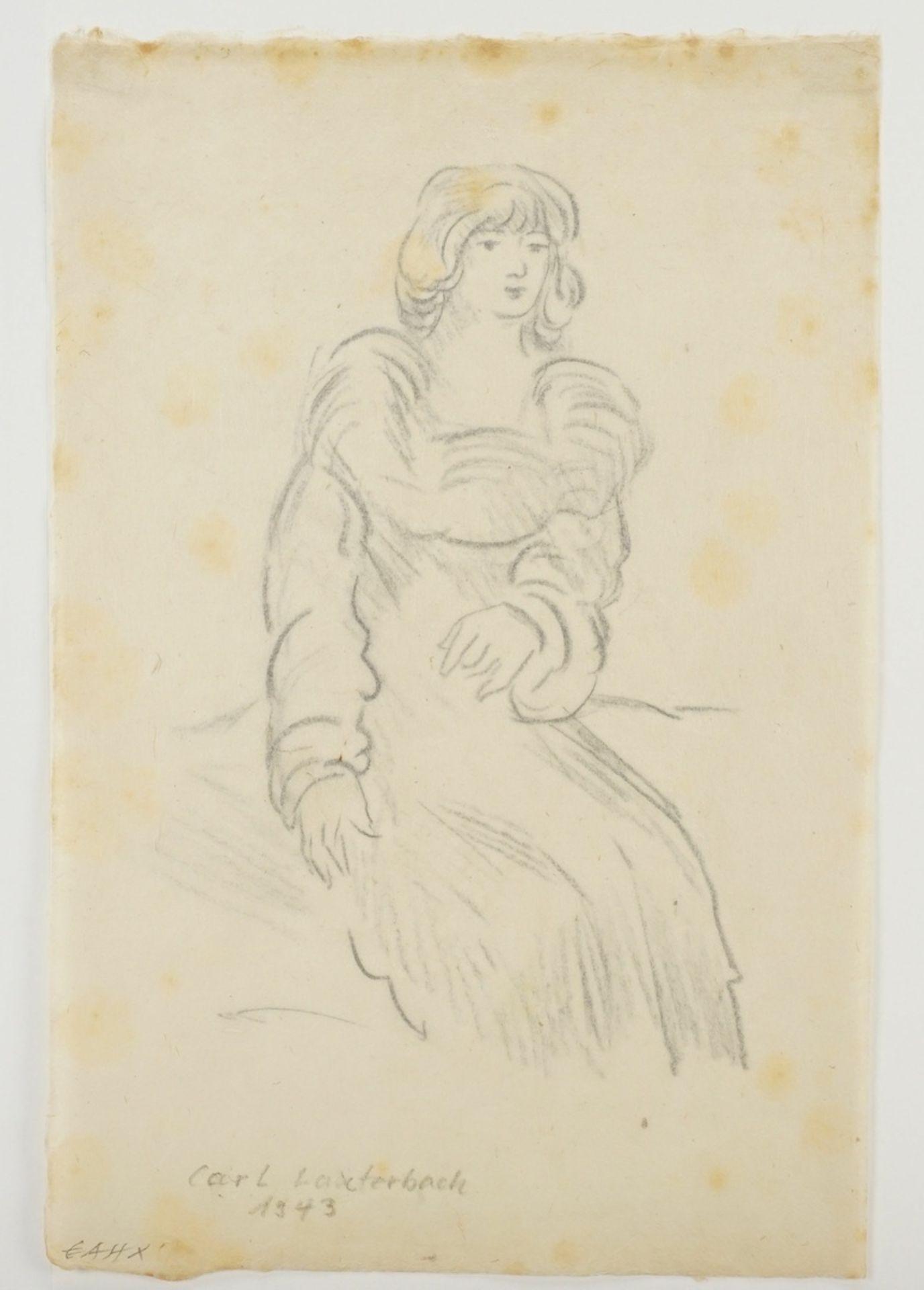 Carl Lauterbach, Junge Dame mit großem Kragen - Bild 3 aus 4