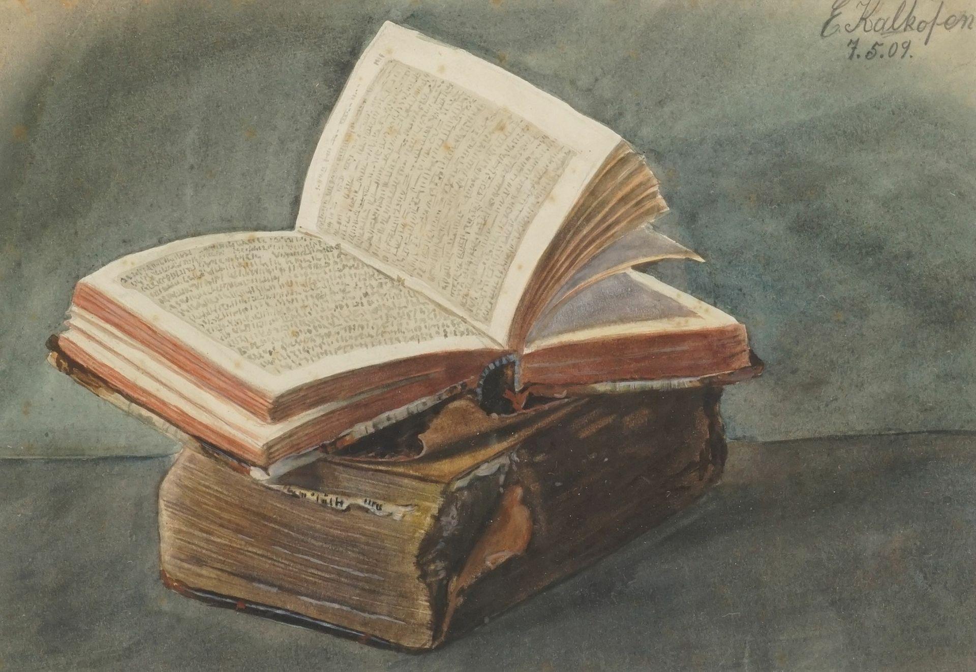 "E. Kalkofen, ""Bücher-Stillleben"""