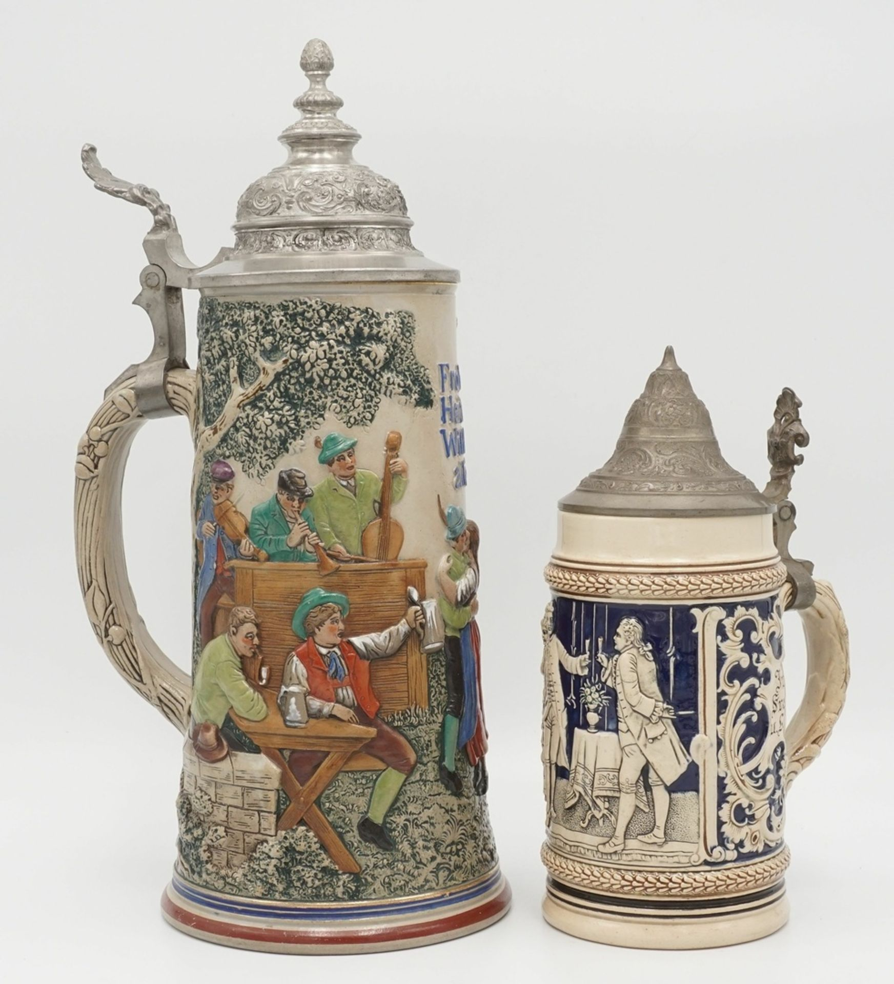 Zwei Bierkrüge, um 1900 - Bild 2 aus 4