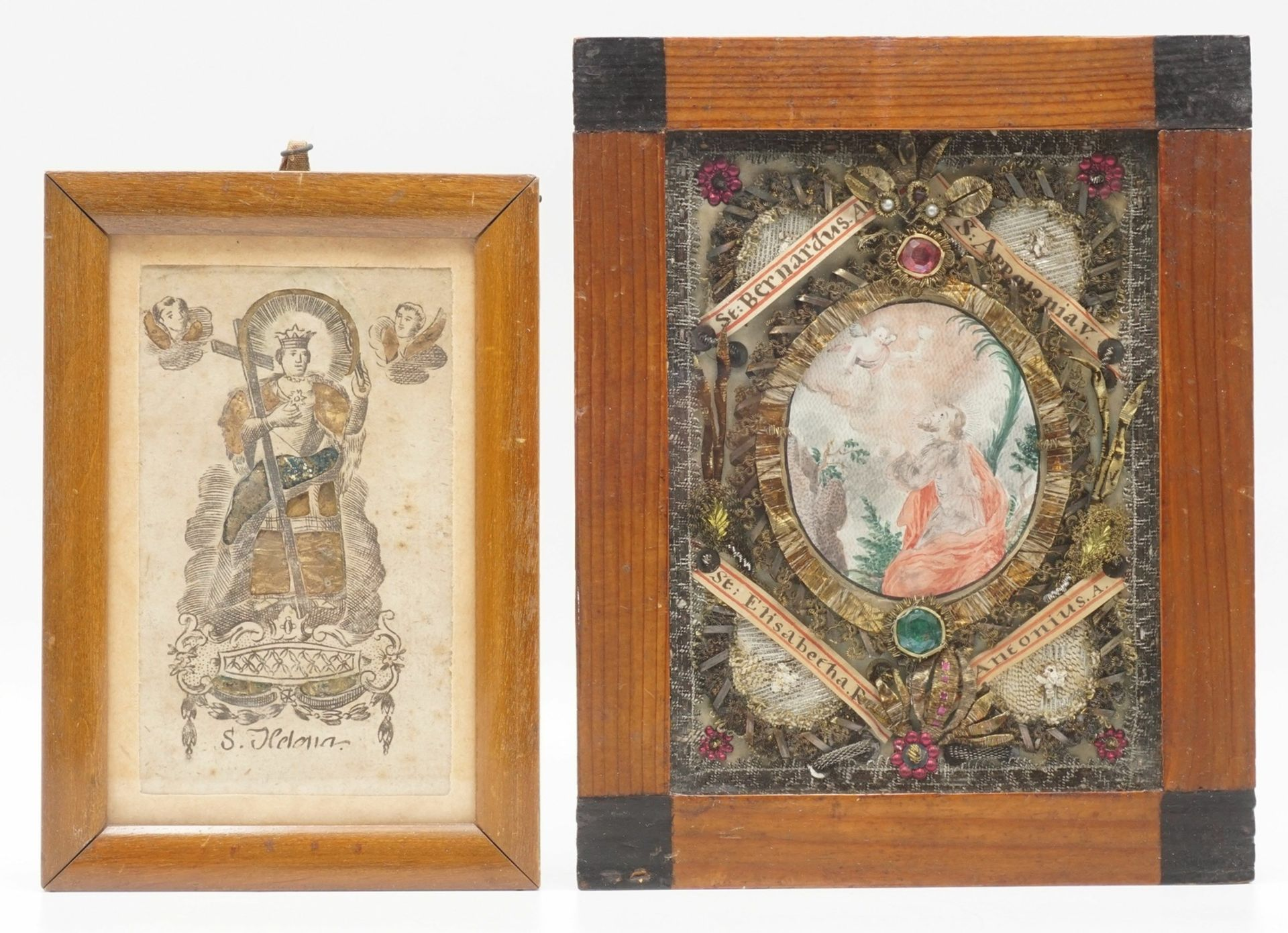 Zwei Andachtsbilder, 19. Jh.