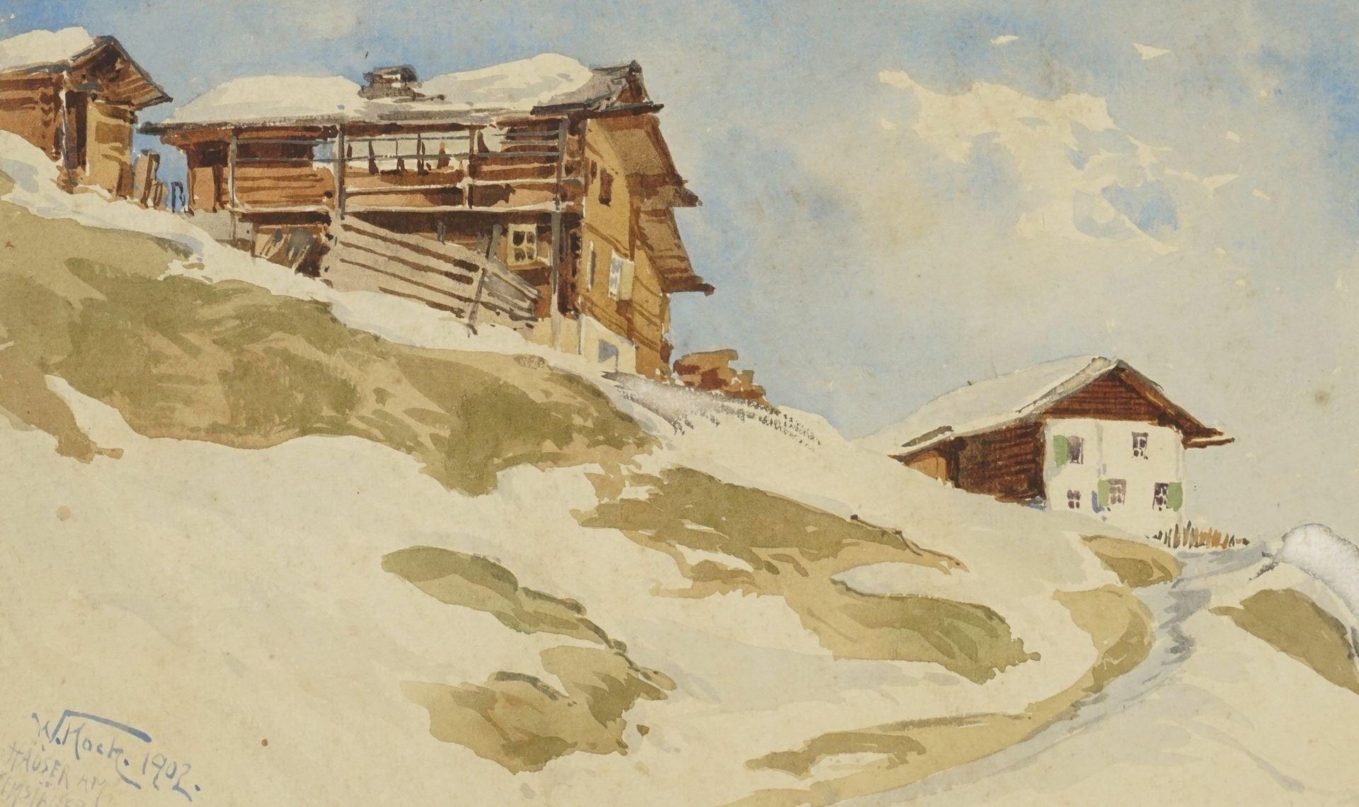 "Walter Koch, ""Häuser am Gemsjäger"" - Bild 2 aus 4"