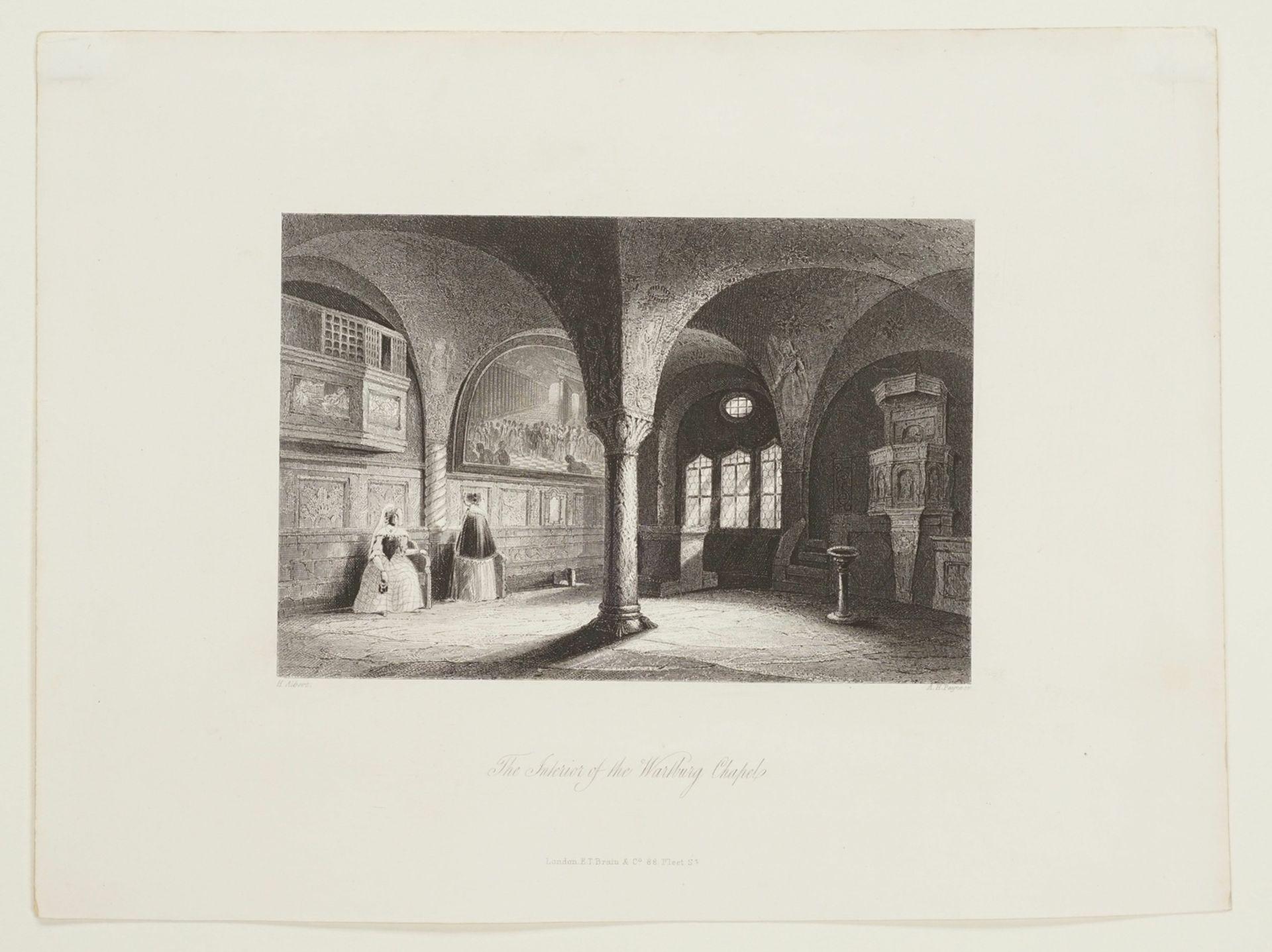 Drei Blatt zur Wartburg bei Eisenach - Bild 3 aus 4