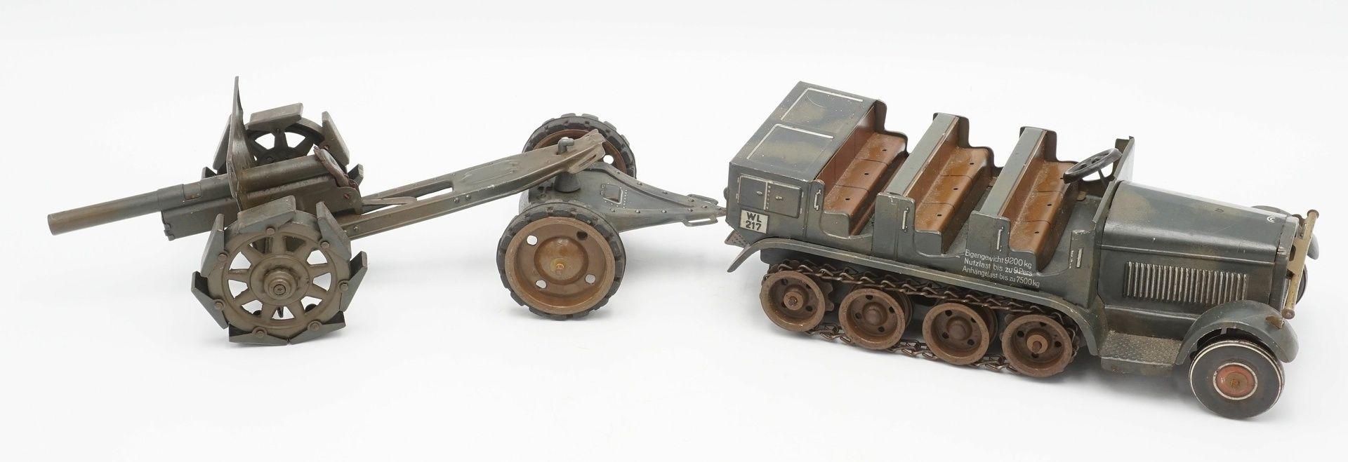 Tippco Wehrmachts Mannschaftswagen mit Geschütz, um 1940 - Bild 2 aus 4