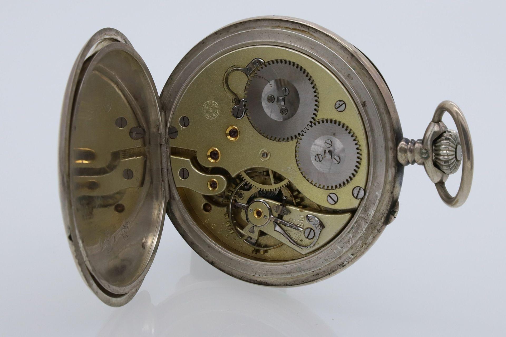 IWC Schaffhausen silberne Taschenuhr, um 1910 - Bild 4 aus 4