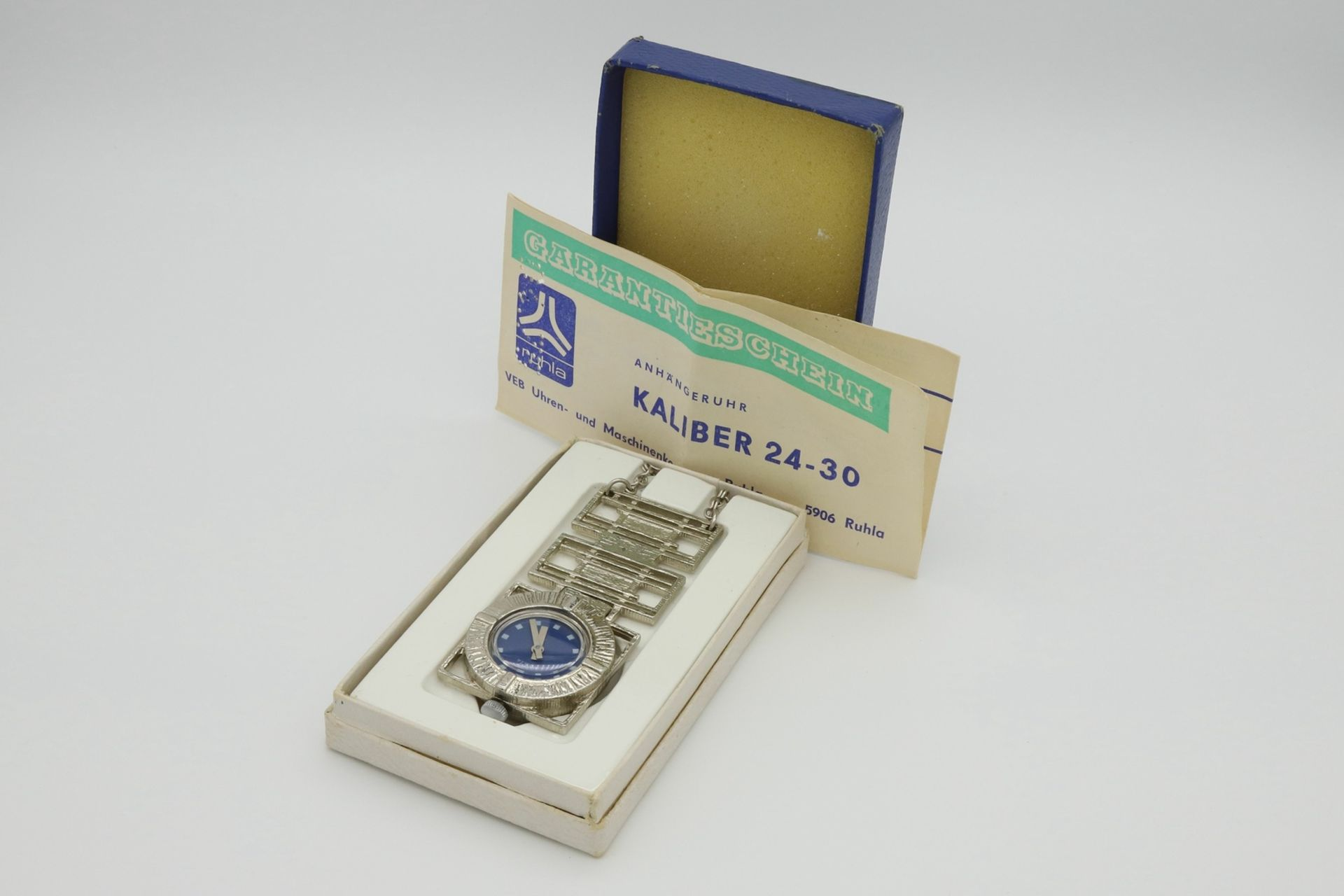 Ruhla Anhängeruhr Kaliber 24-30, um 1970