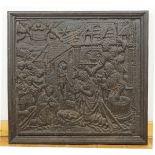 Ofenplatte mit christlichem Motiv, 1. Hälfte 19. Jh.