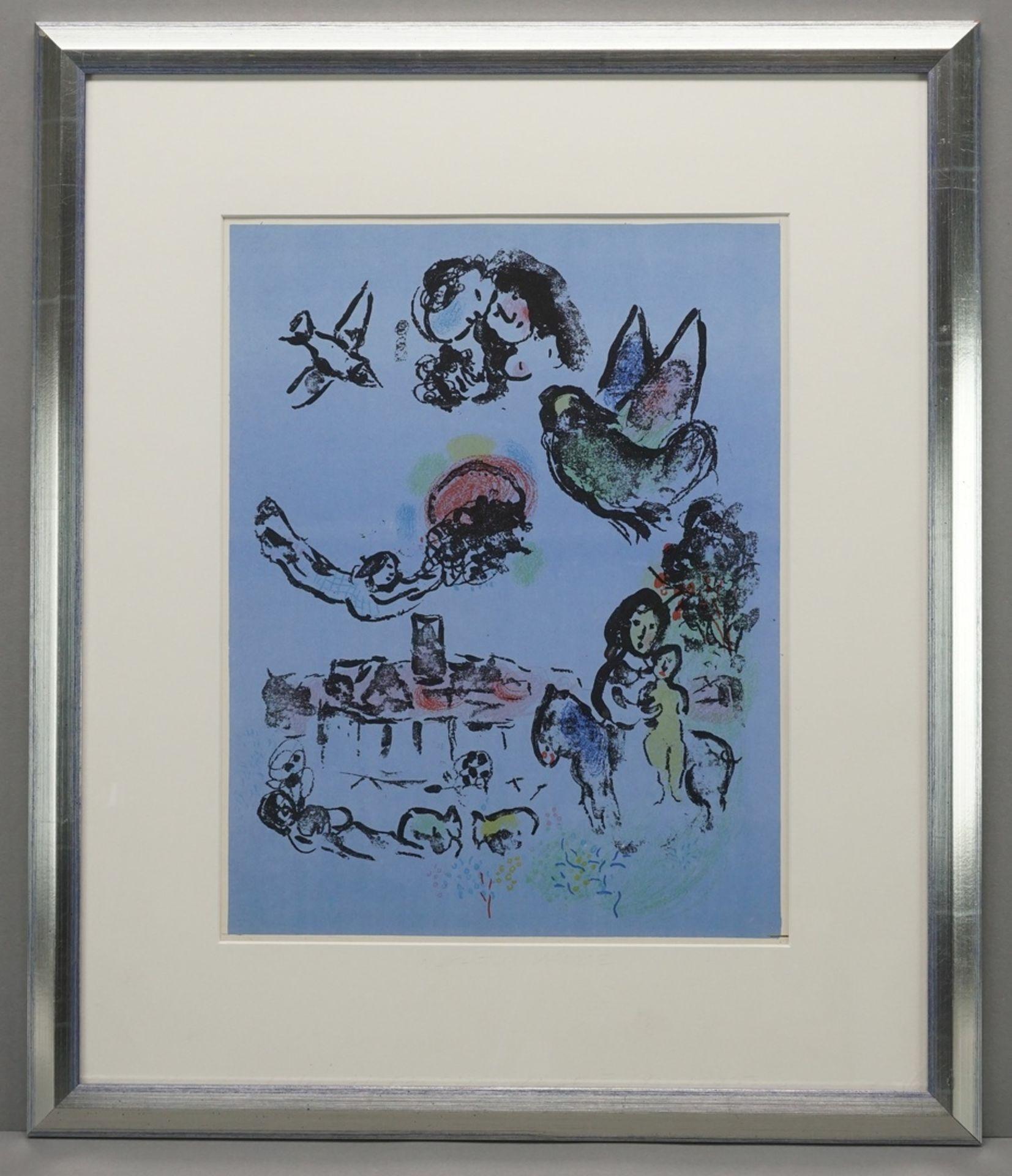 """Marc Chagall, """"Nocturne à Vence"""" (Nächtliches Vence) - Bild 2 aus 3"""