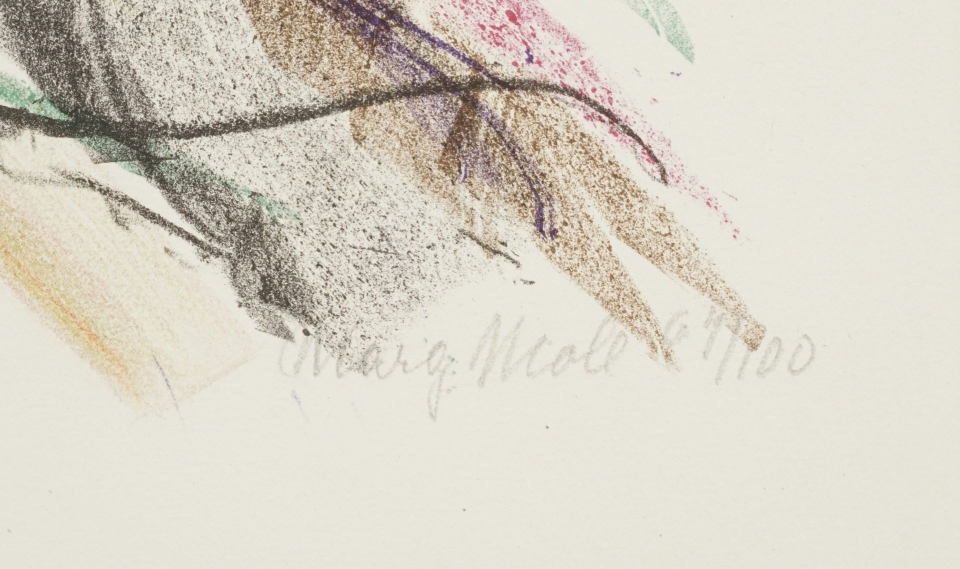 Margarete (Marg) Moll, Violett bricht durch (Informelle Komposition) - Bild 4 aus 4