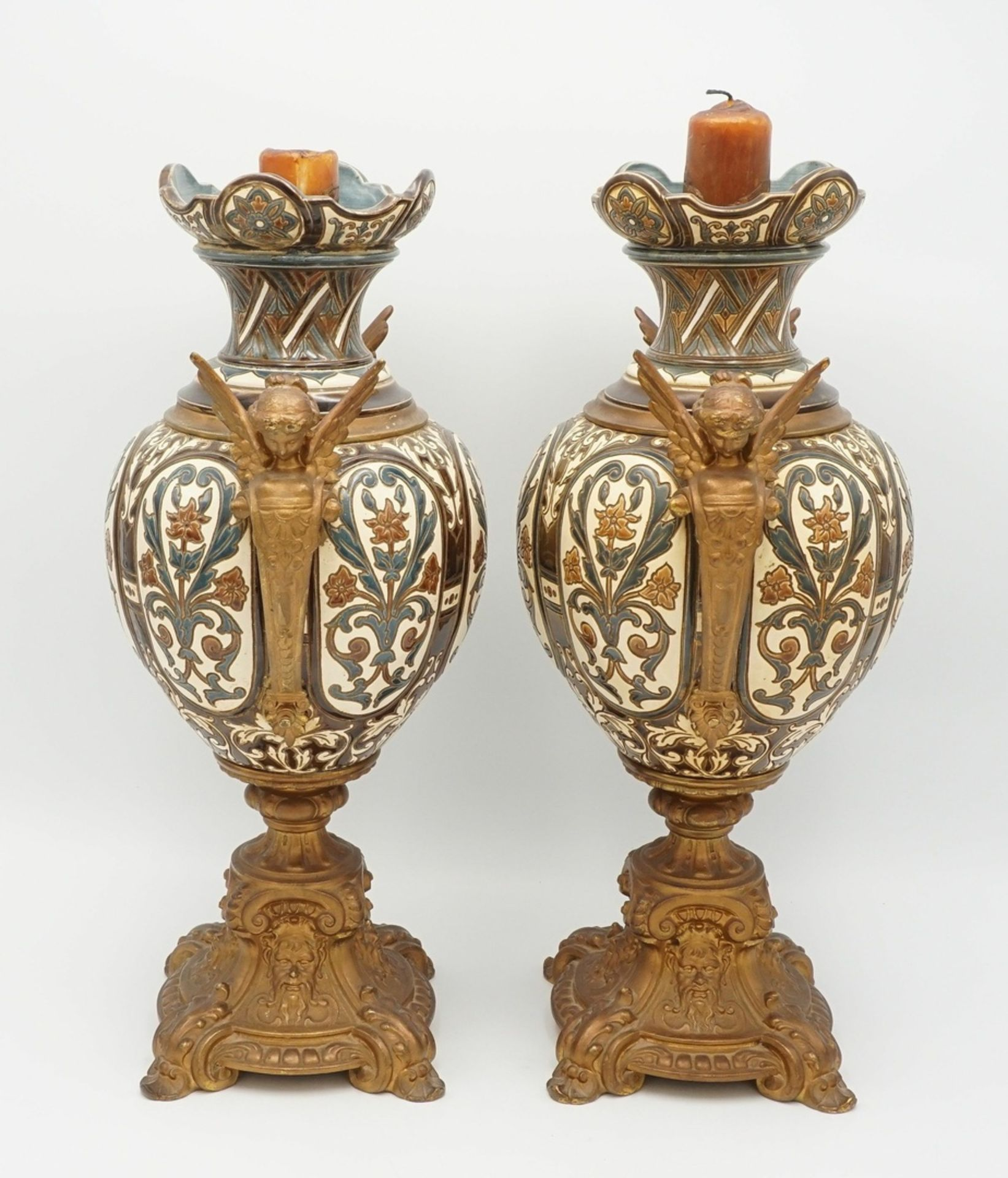 Zwei Kaminaufsätze, Historismus - Bild 2 aus 6